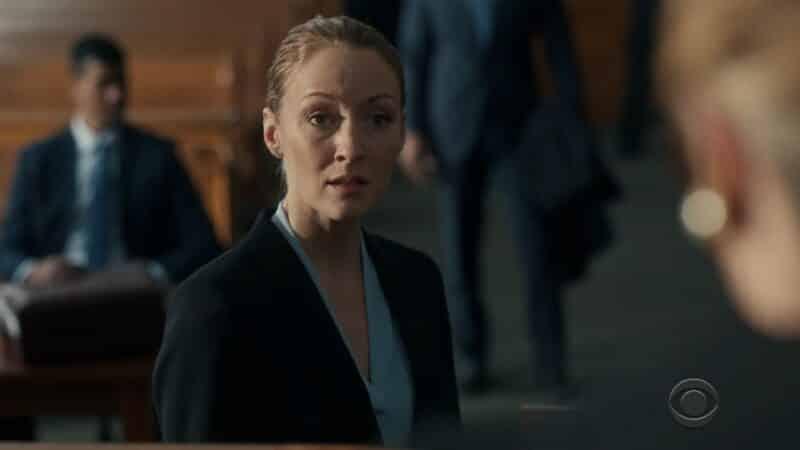 DA Avery Grafton (Jennifer Ferrin) talking to the judge