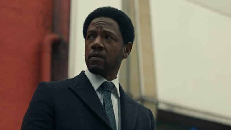 Detective Dante (Tory Kittles) with a worried look on his face