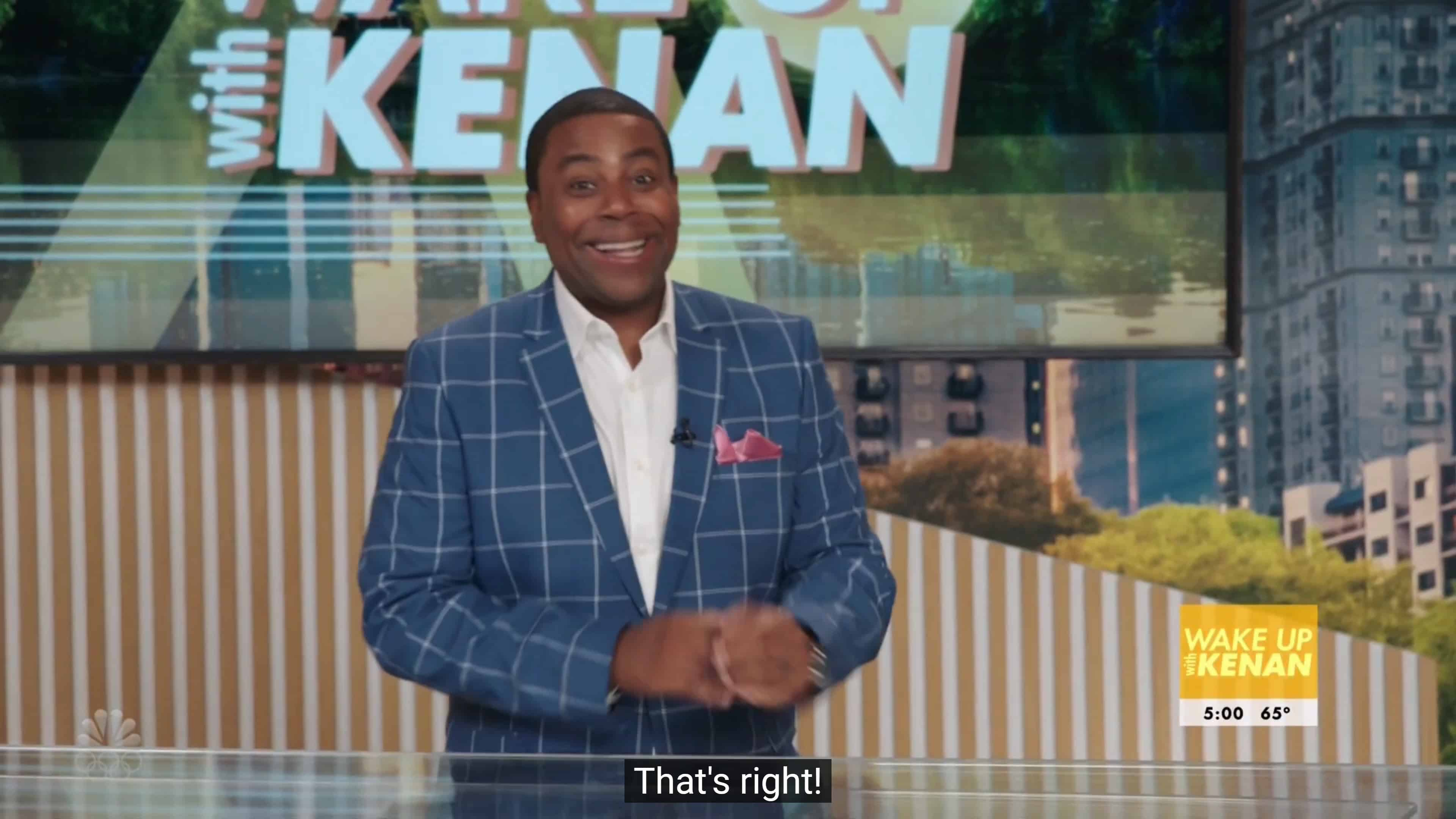 Kenan (Kenan Thompson) starting his show