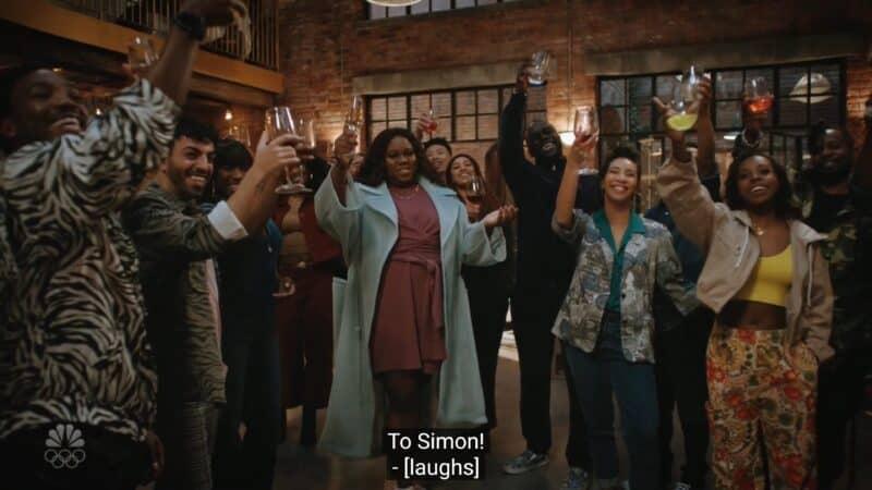 Mo celebrating Simon