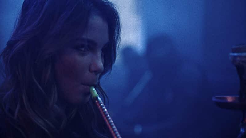 Shaiou (Shirel Nataf) smoking hookah