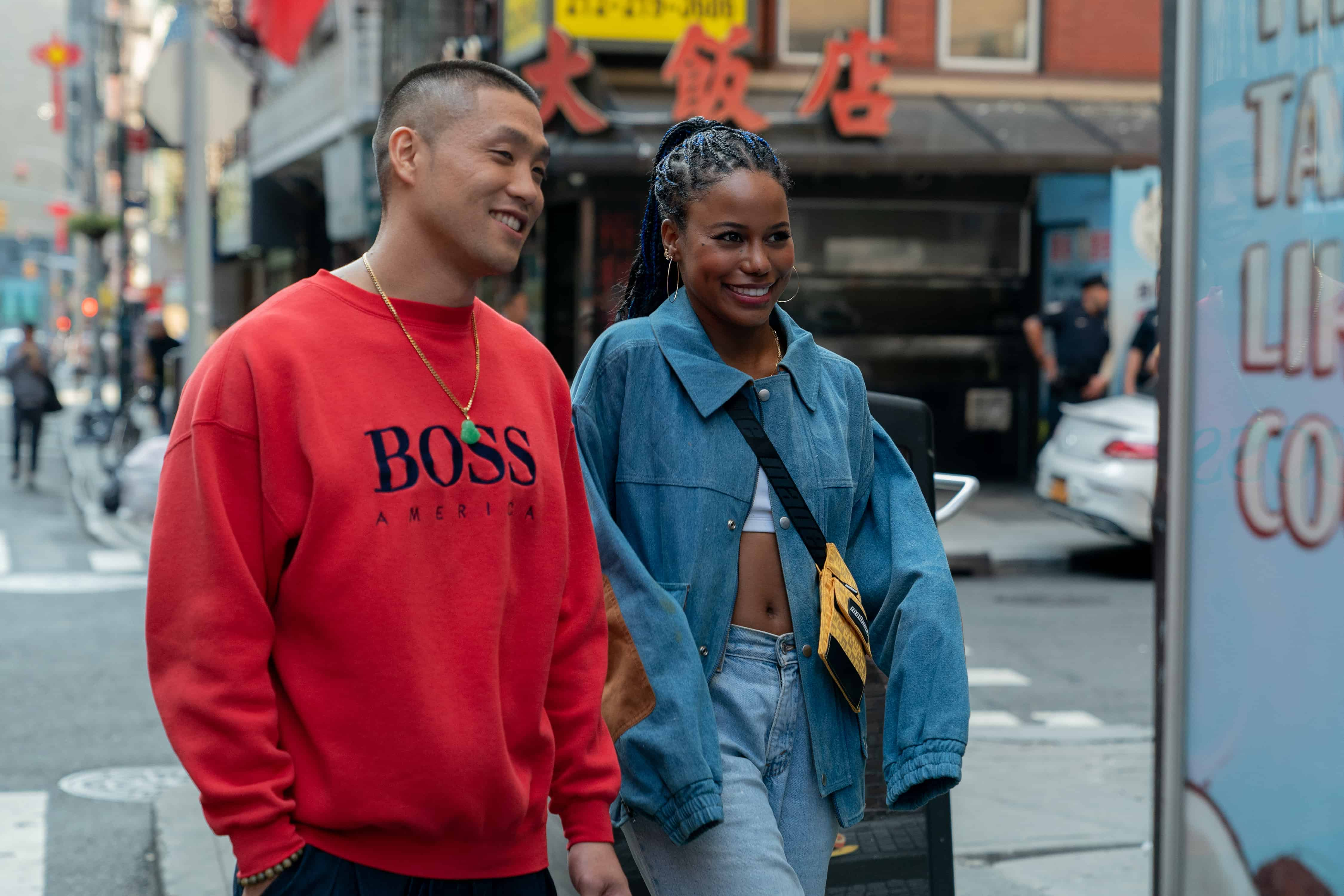 Alfred 'Boogie' (Taylor Takahashi) and Eleanor (Taylour Paige) on a date