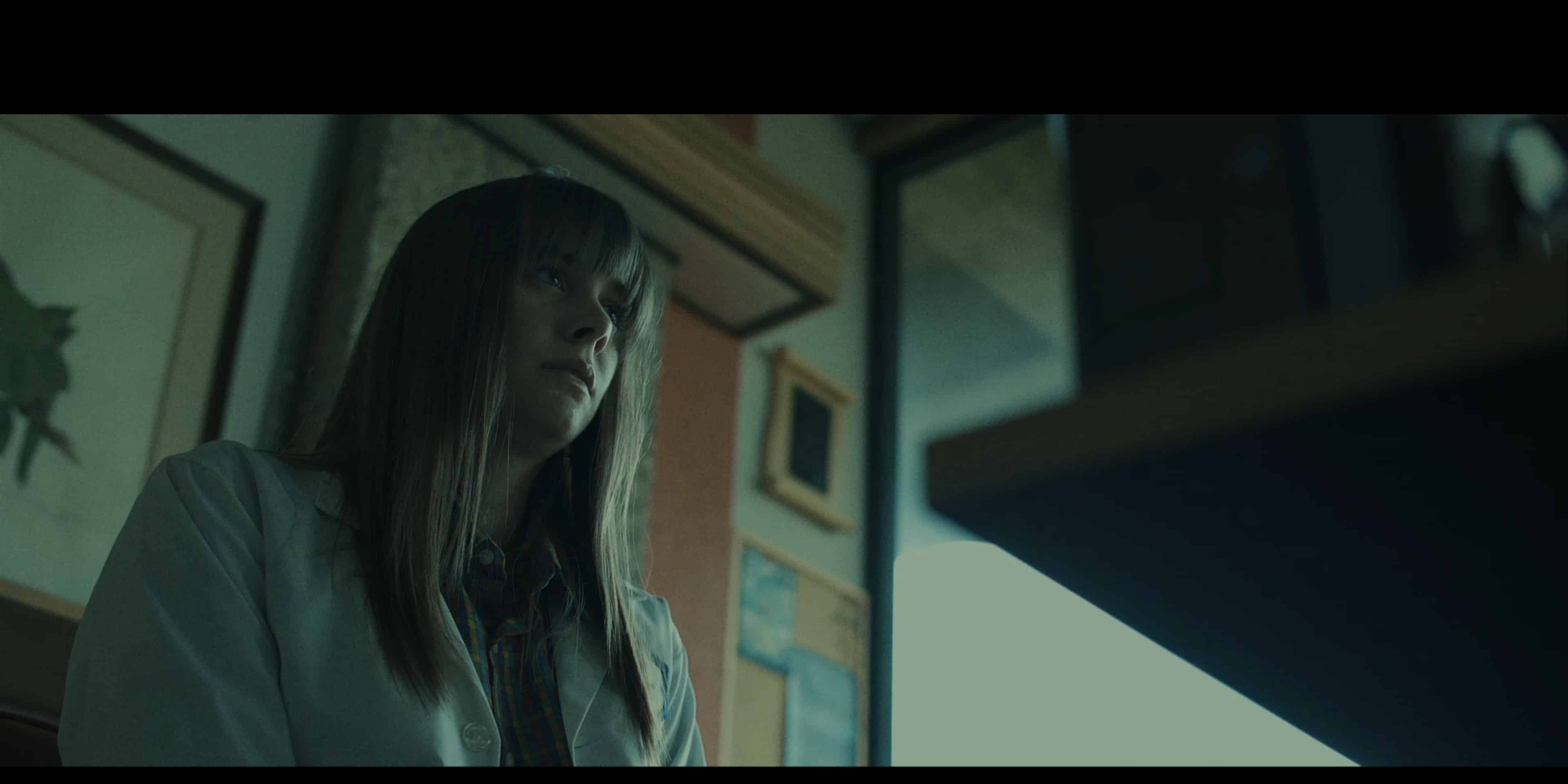 Anita (Carlee Ryski) talking to Dr. Meyer