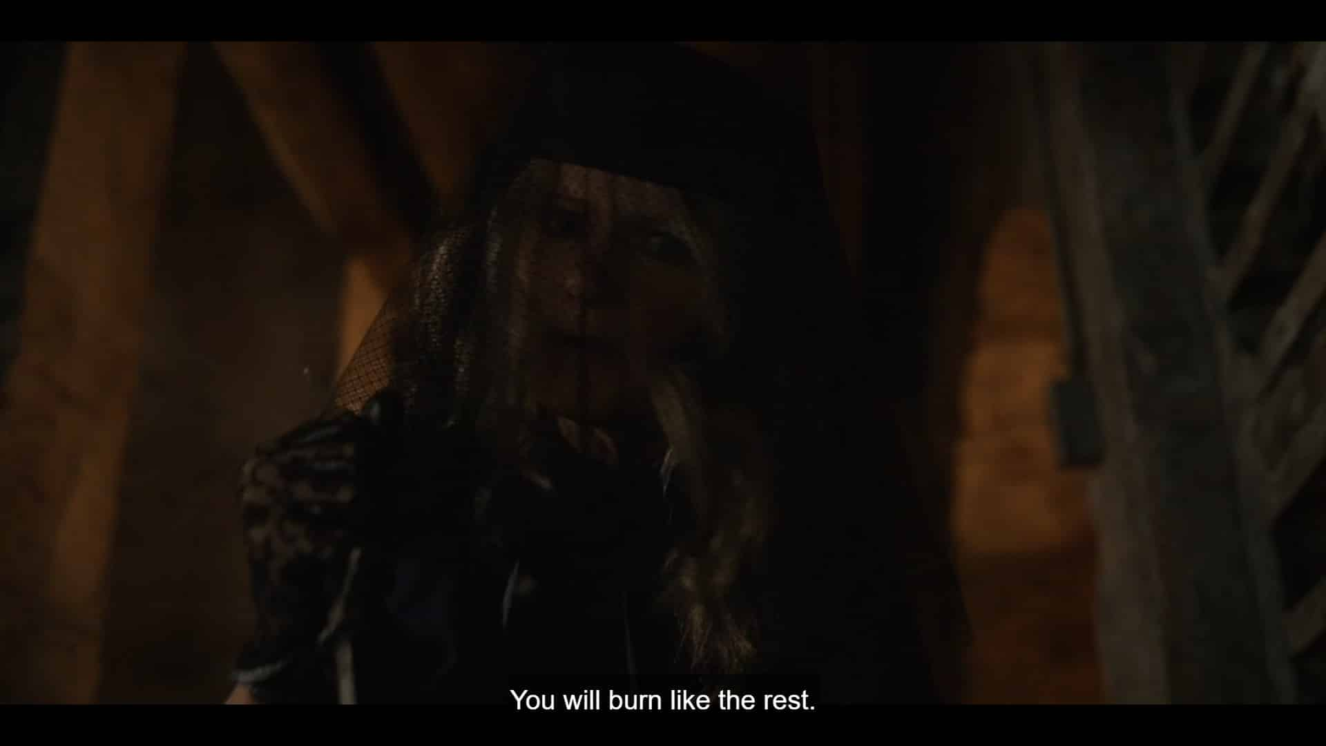Aunt Josephine noting Leanne will burn like all the rest