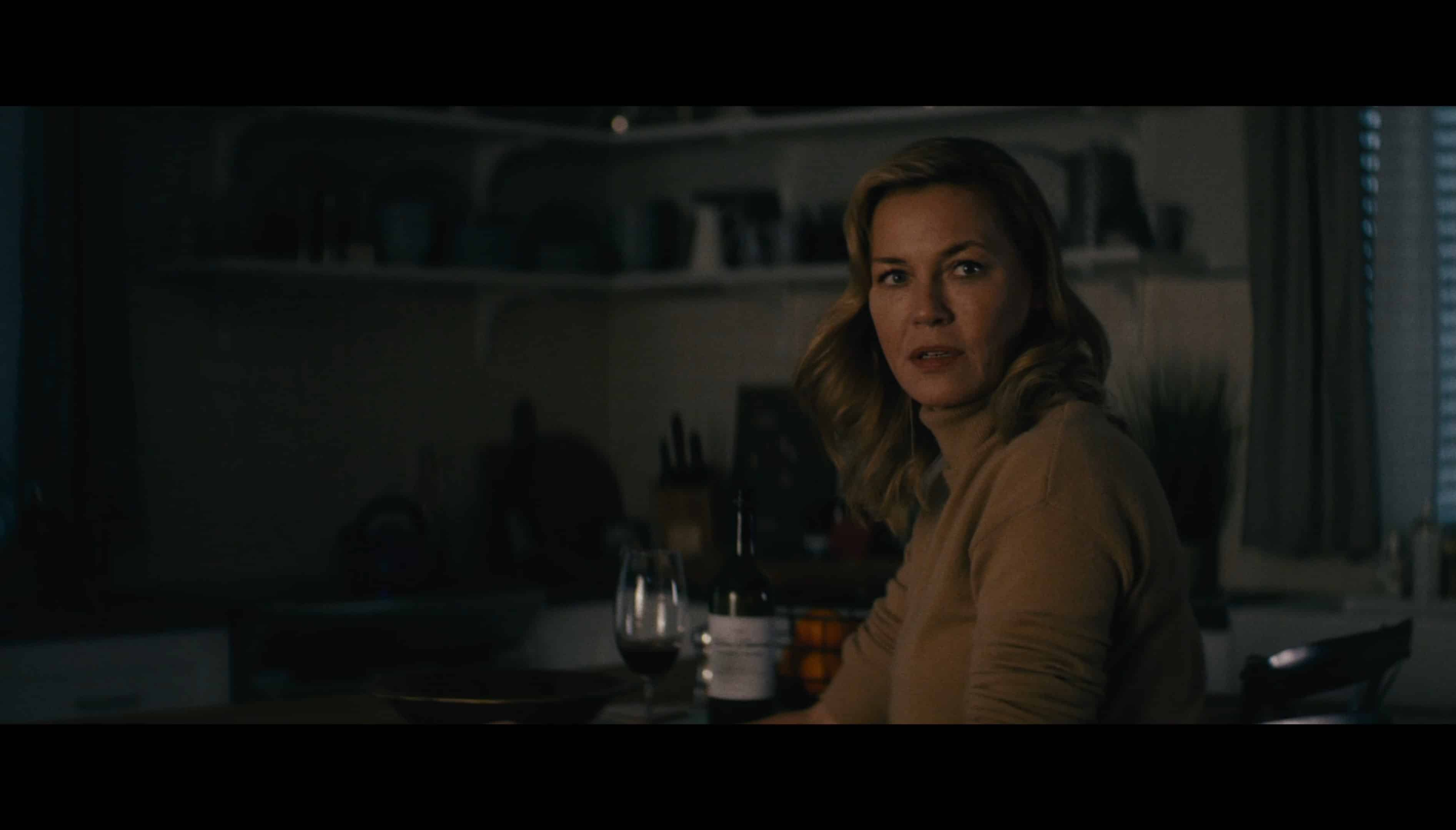 Becca Mansell (Connie Nielsen) worried about her husband | Nobody (Universal)