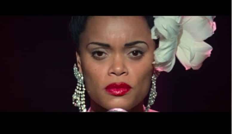 "Billie Holiday (Andra Day) performing ""Strange Fruit"""