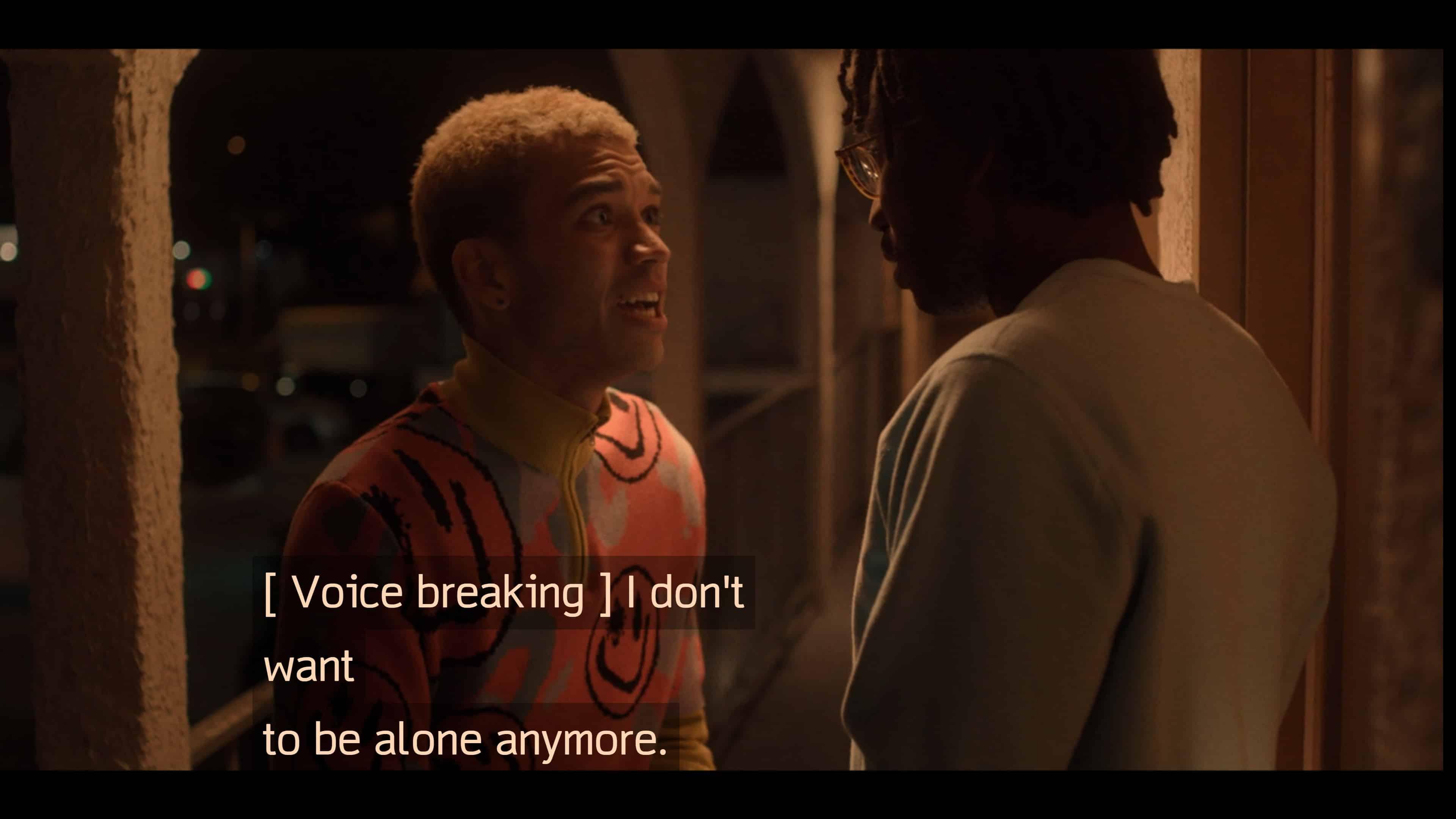 Chester begging Sam to love him