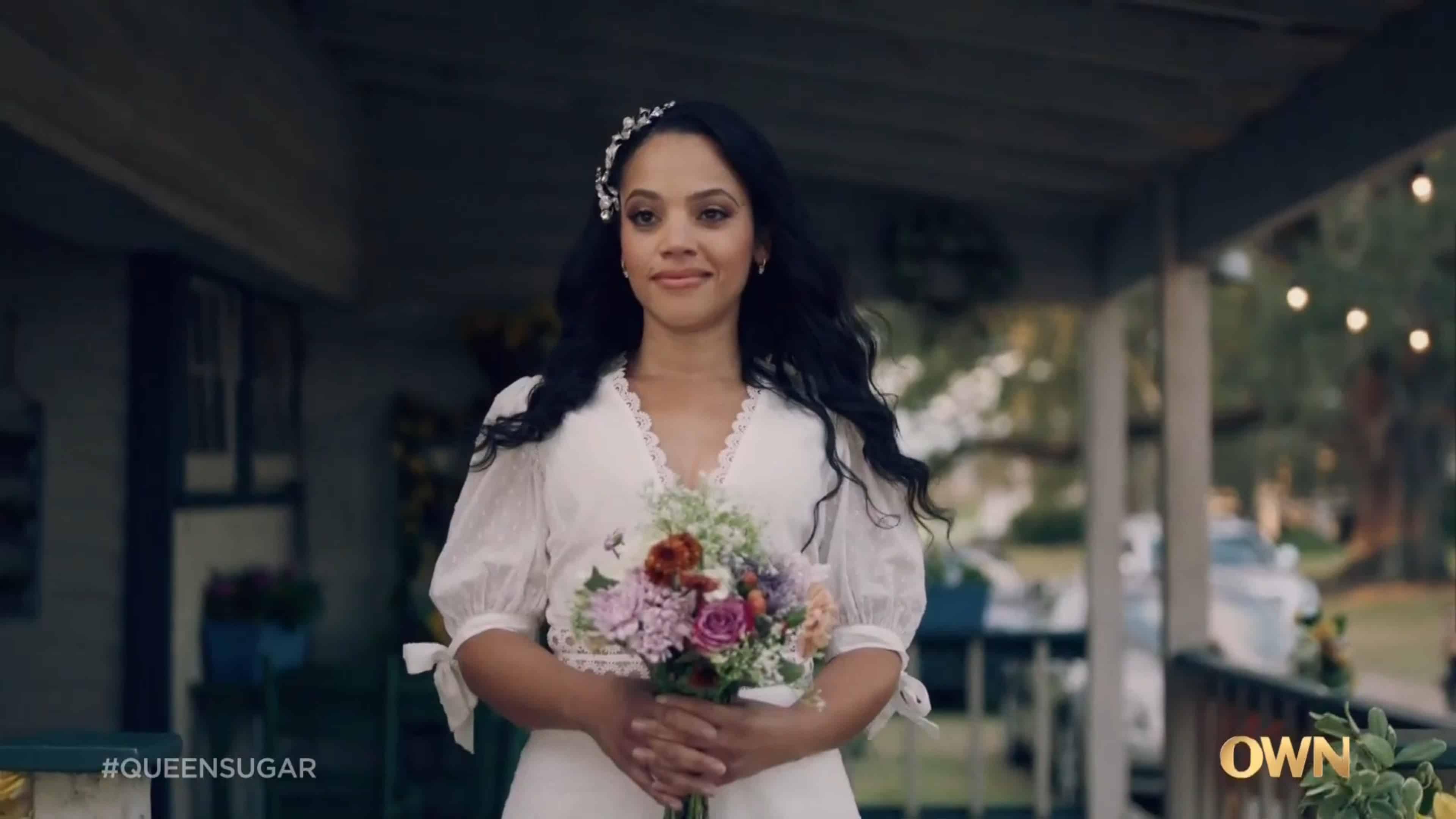 Darla in her wedding dress