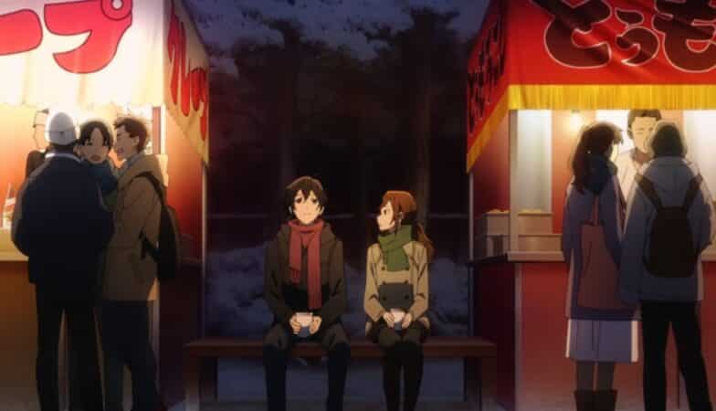 Izumi and Kyoko sitting together