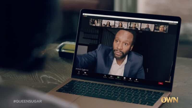 Jackson (Kendrick Cross) during a video call