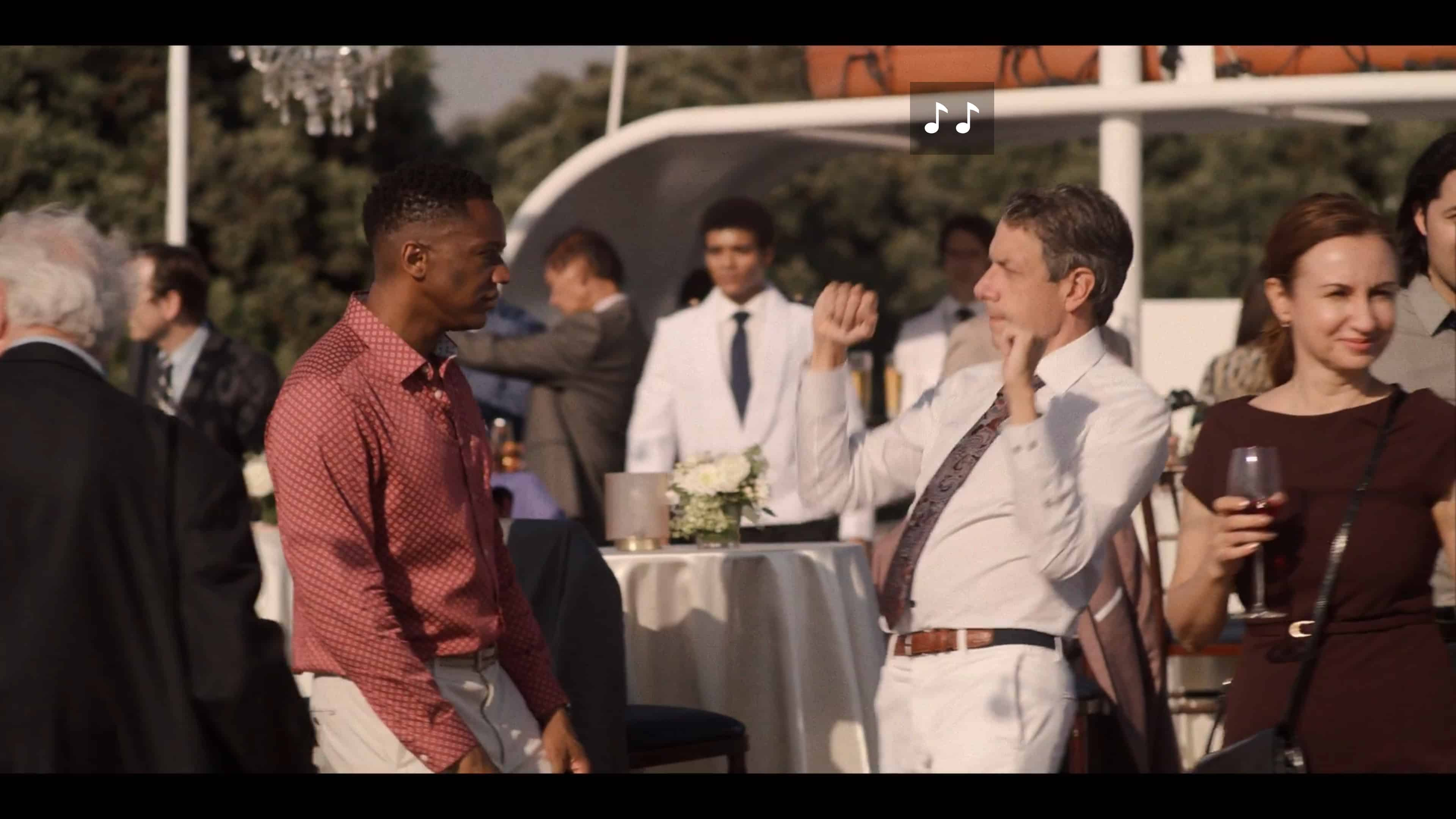 Joe (J. August Richards) and Patrick dancing