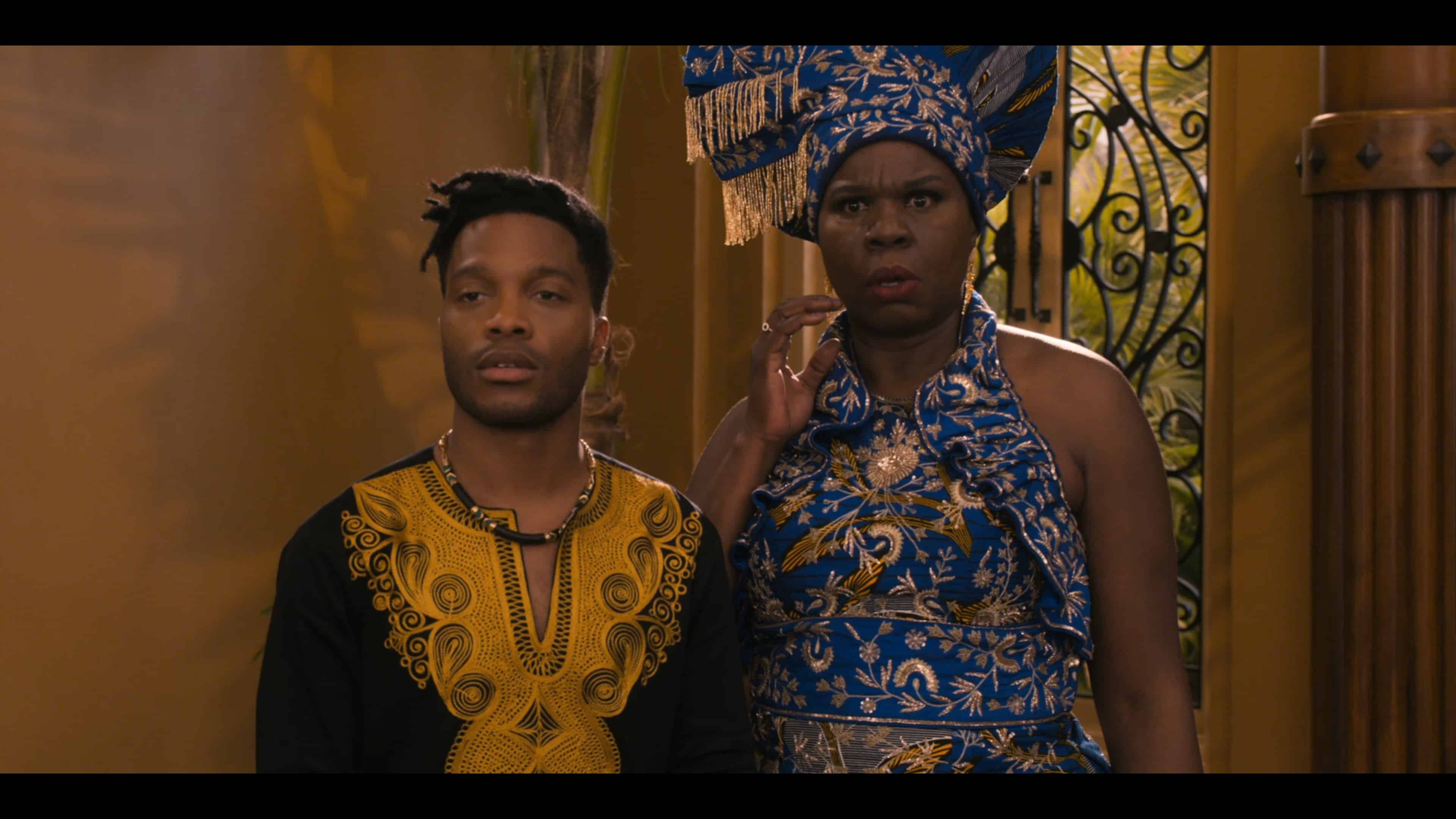 Lavelle (Jermaine Fowler) and Mary (Leslie Jones) shocked by General Izzi and his people