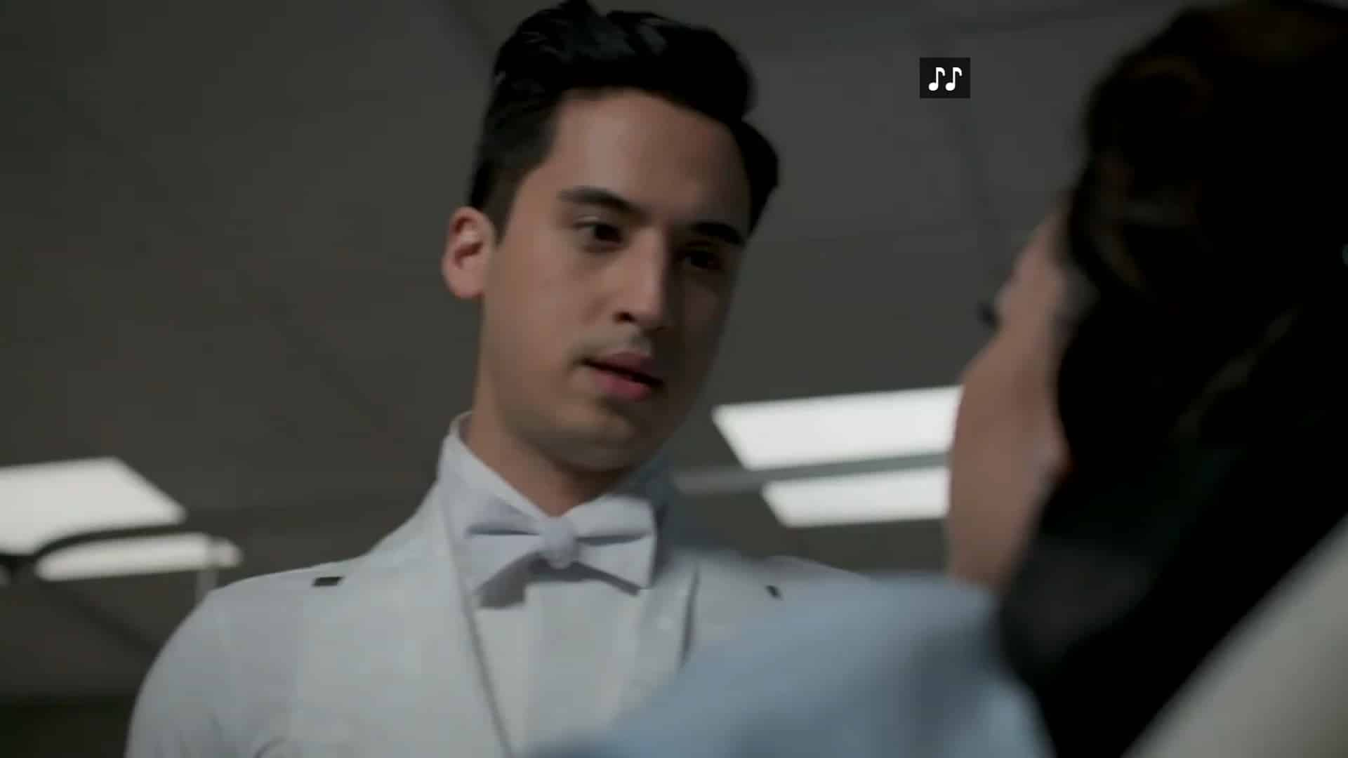 Leo (Michael Hsu Rosen) worried about his dancing partner, Maya