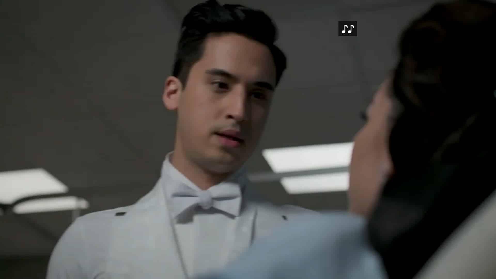 Leo (Michael Hsu Rosen) worried about his dancing partner, Maya
