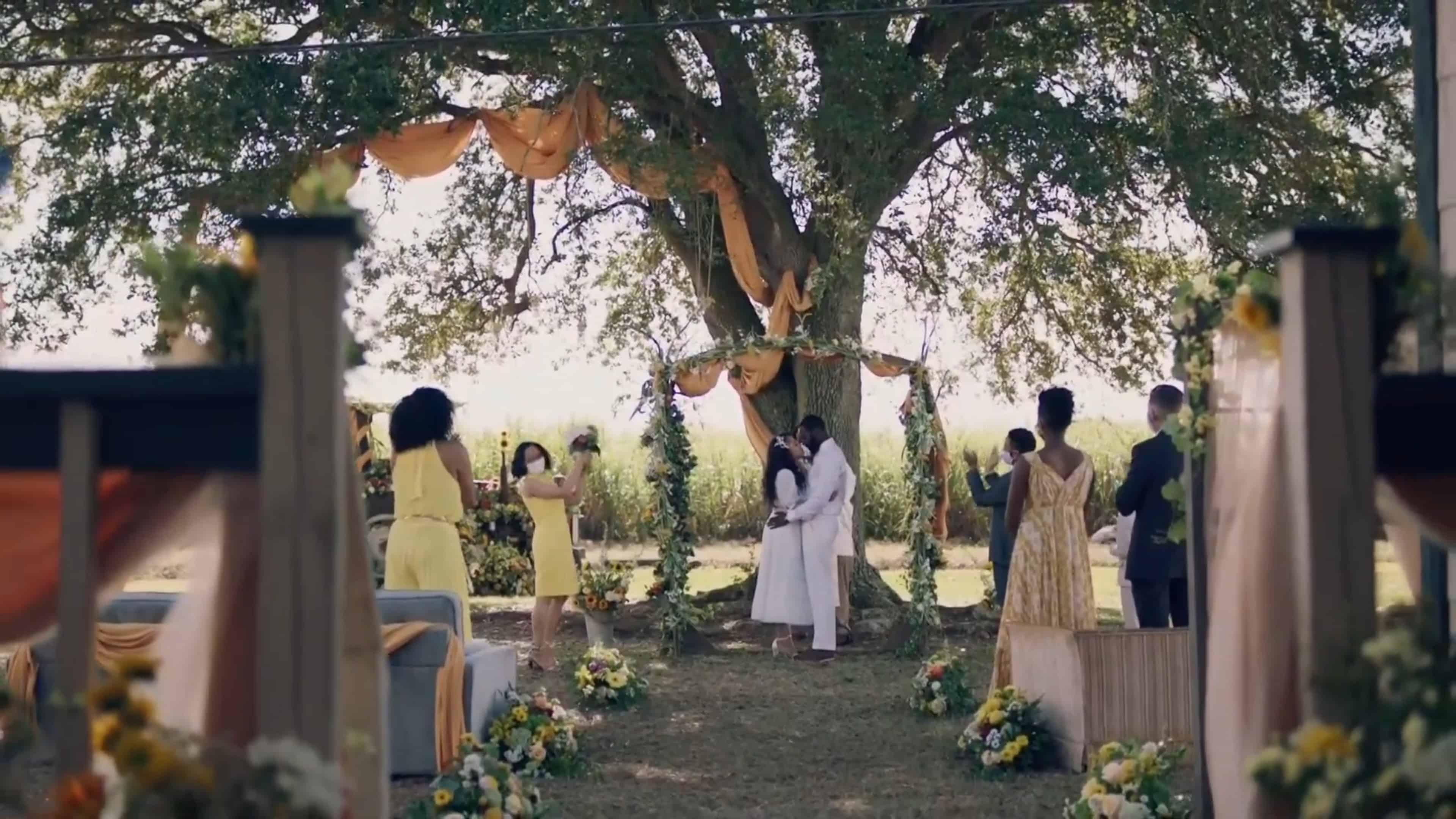 Ralph Angel and Darla's wedding