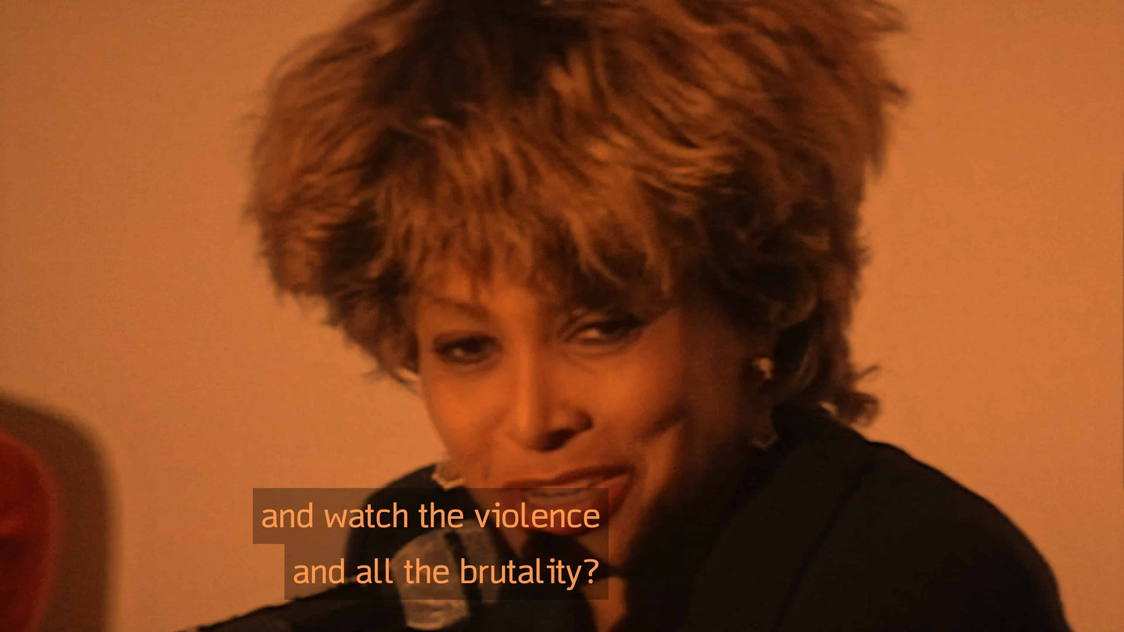 "At the Venice Film Festival, Tina Turner talking about why she hasn't watched ""What's Love Got To Do With It."""