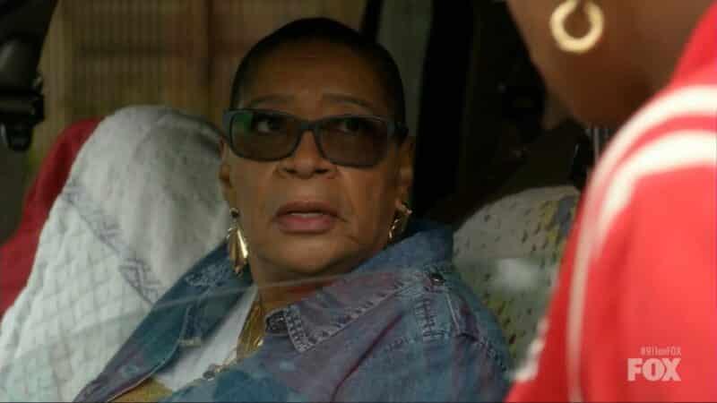 Toni (Marsha Warfield) being caught sleeping in her car