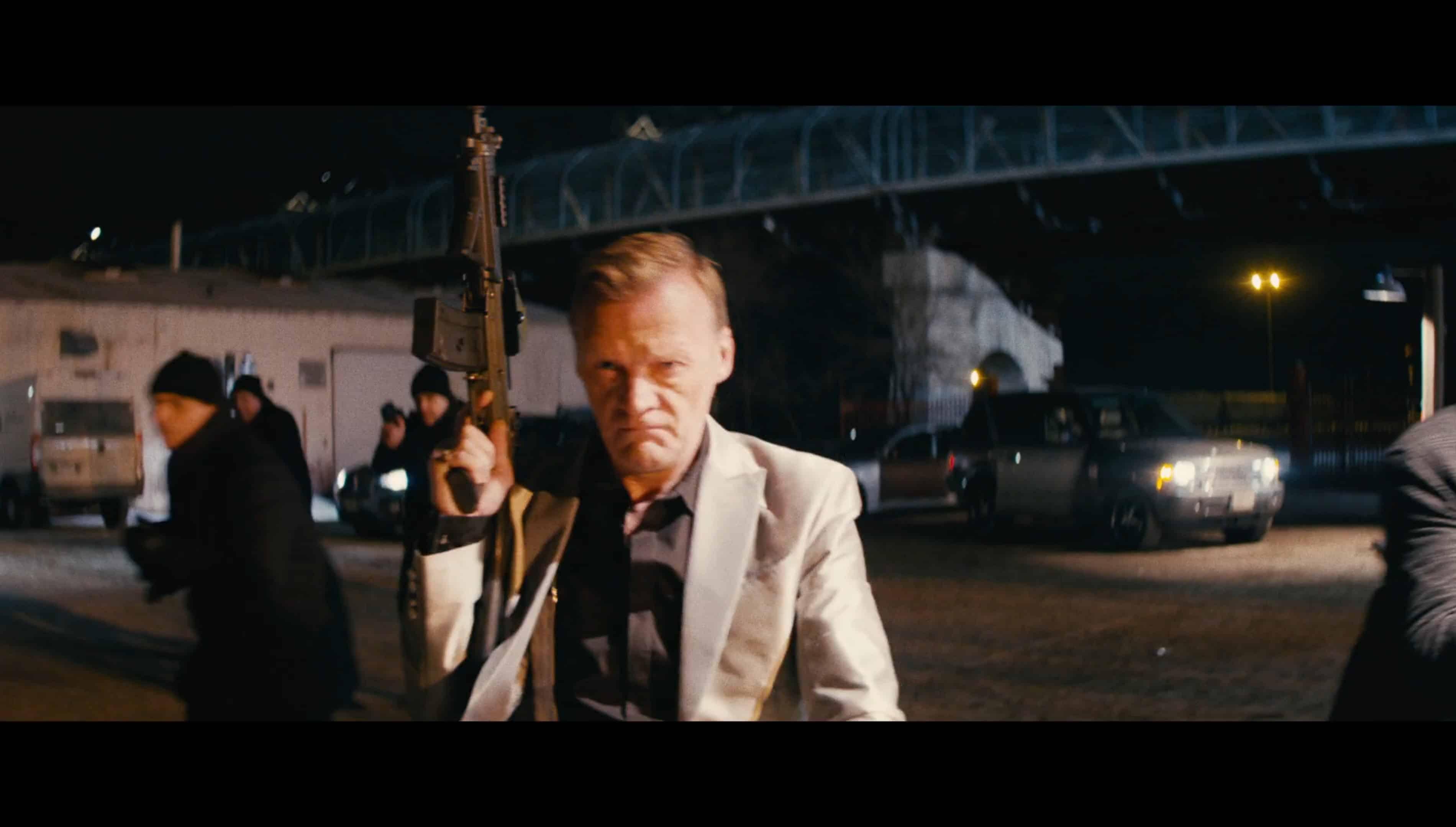 Yulian Kuznetsov (Alexey Serebryakov) with a gun in hand | Nobody (Universal)