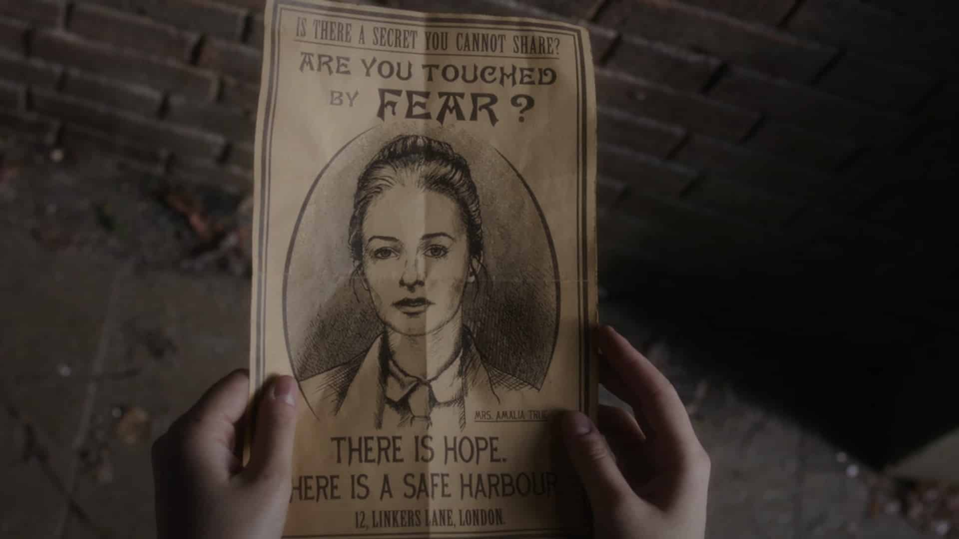 A poster advertising Amalia's help