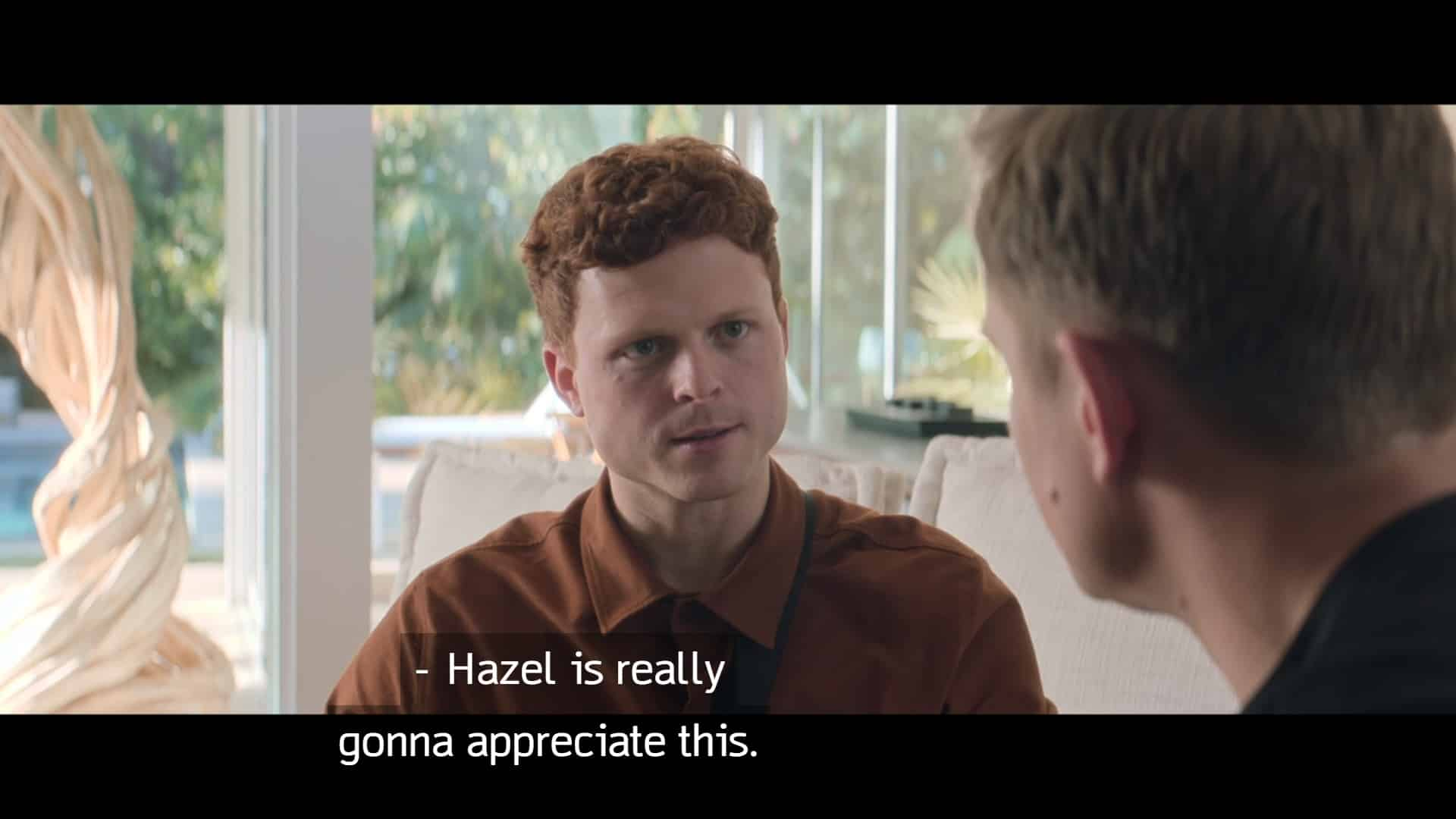 Bennett (Caleb Foote) reassuring Byron