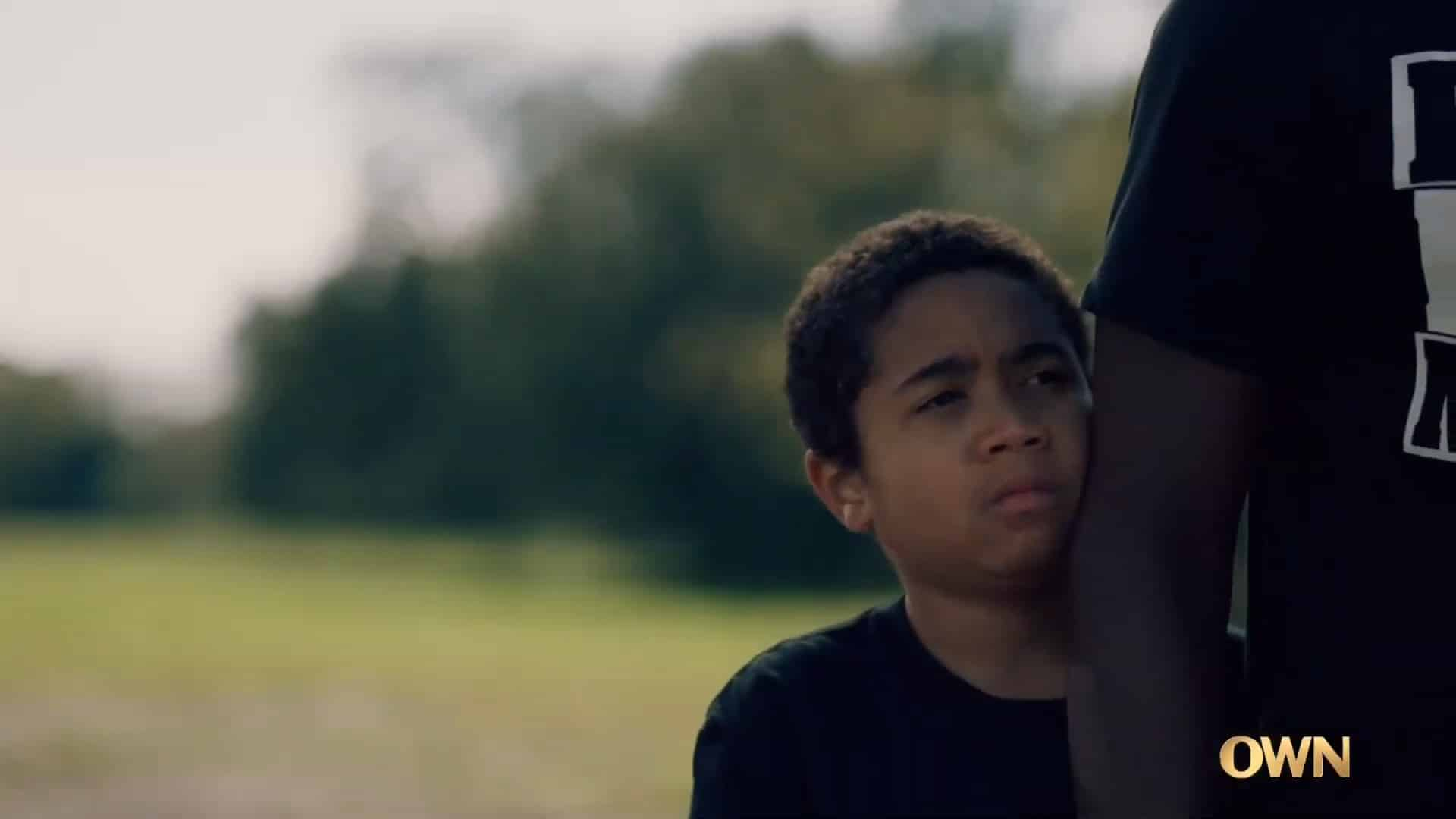Blue watching his father stand his ground against a cop
