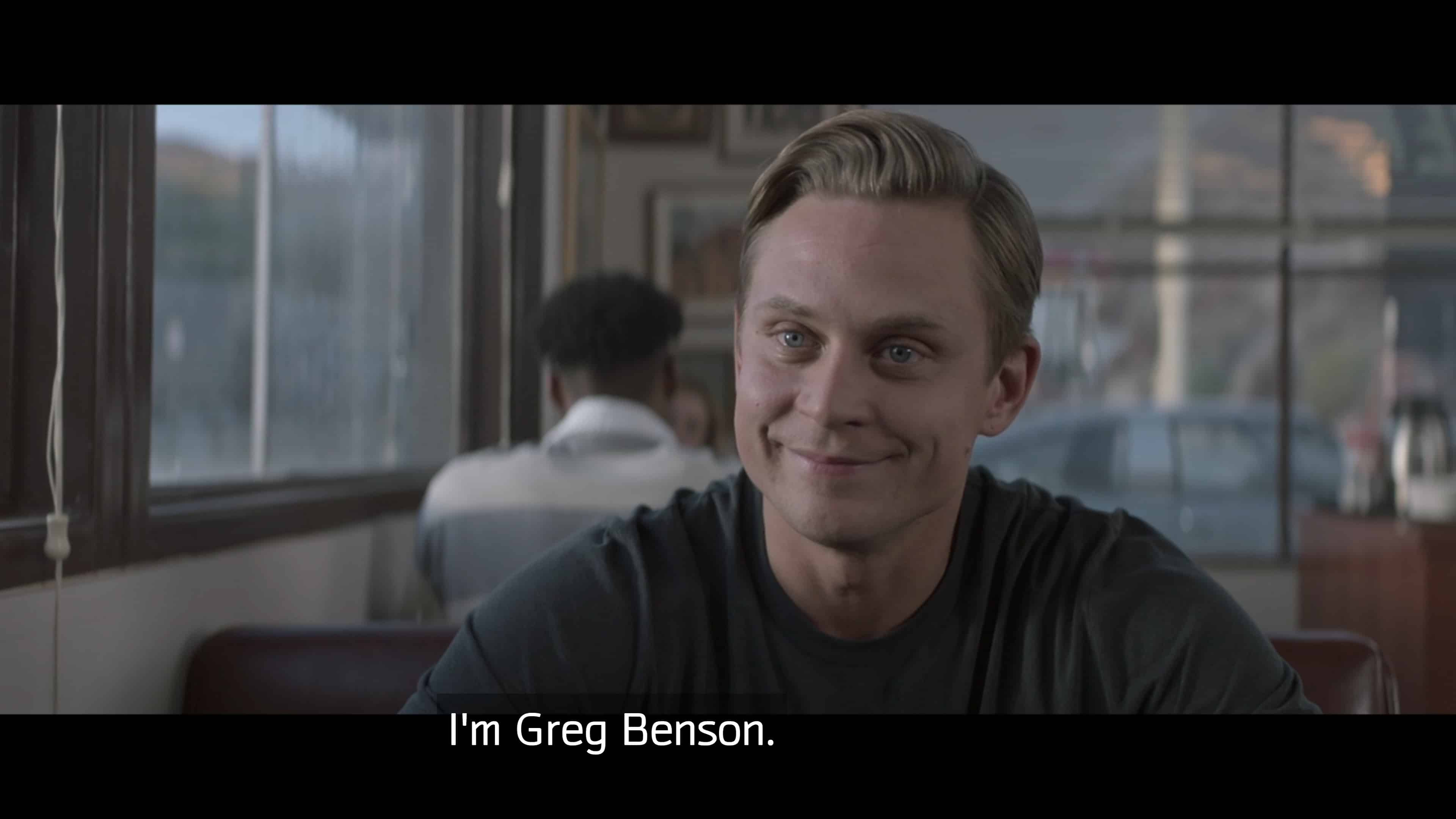 Byron revealing his real name is Greg Benson