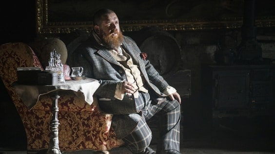 Declan 'Beggar King' Orrun (Nick Frost) on HBO's The Nevers