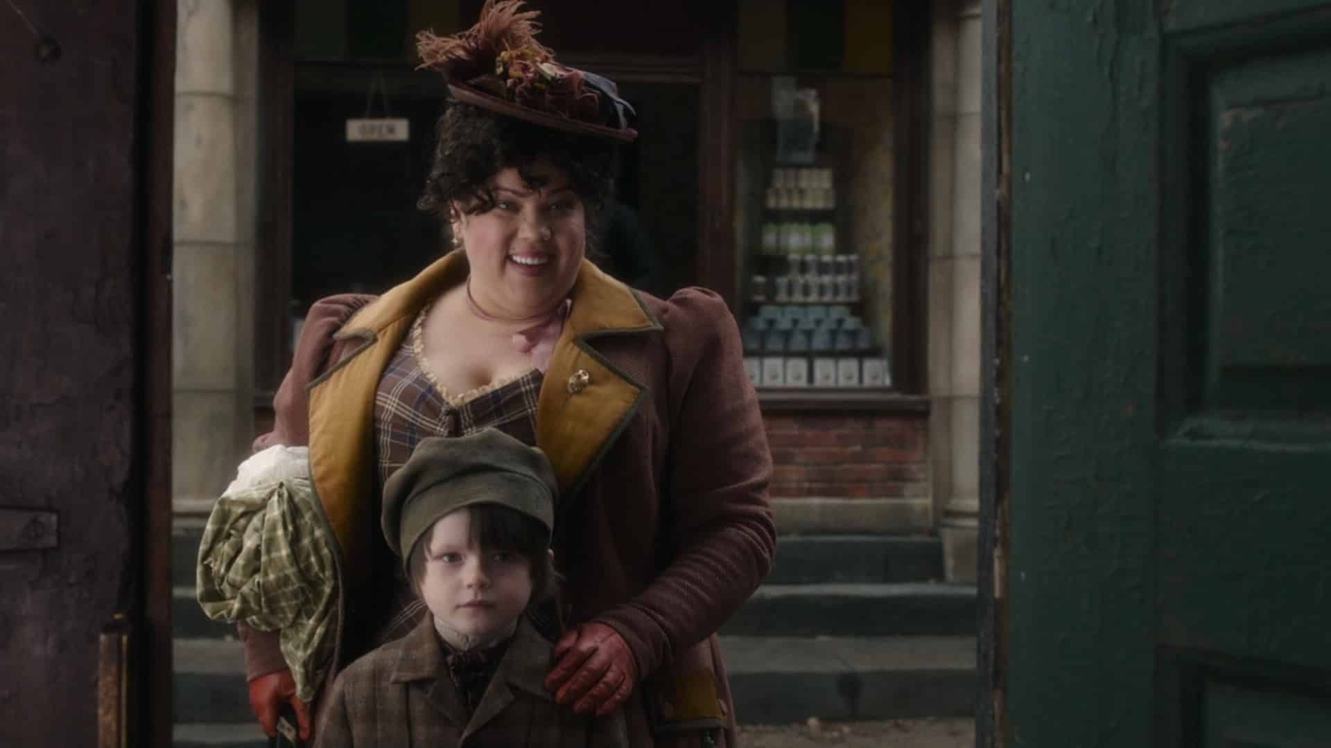 Desiree (Ella Smith) with her son, looking for the opportunity to stay at the Orphanage