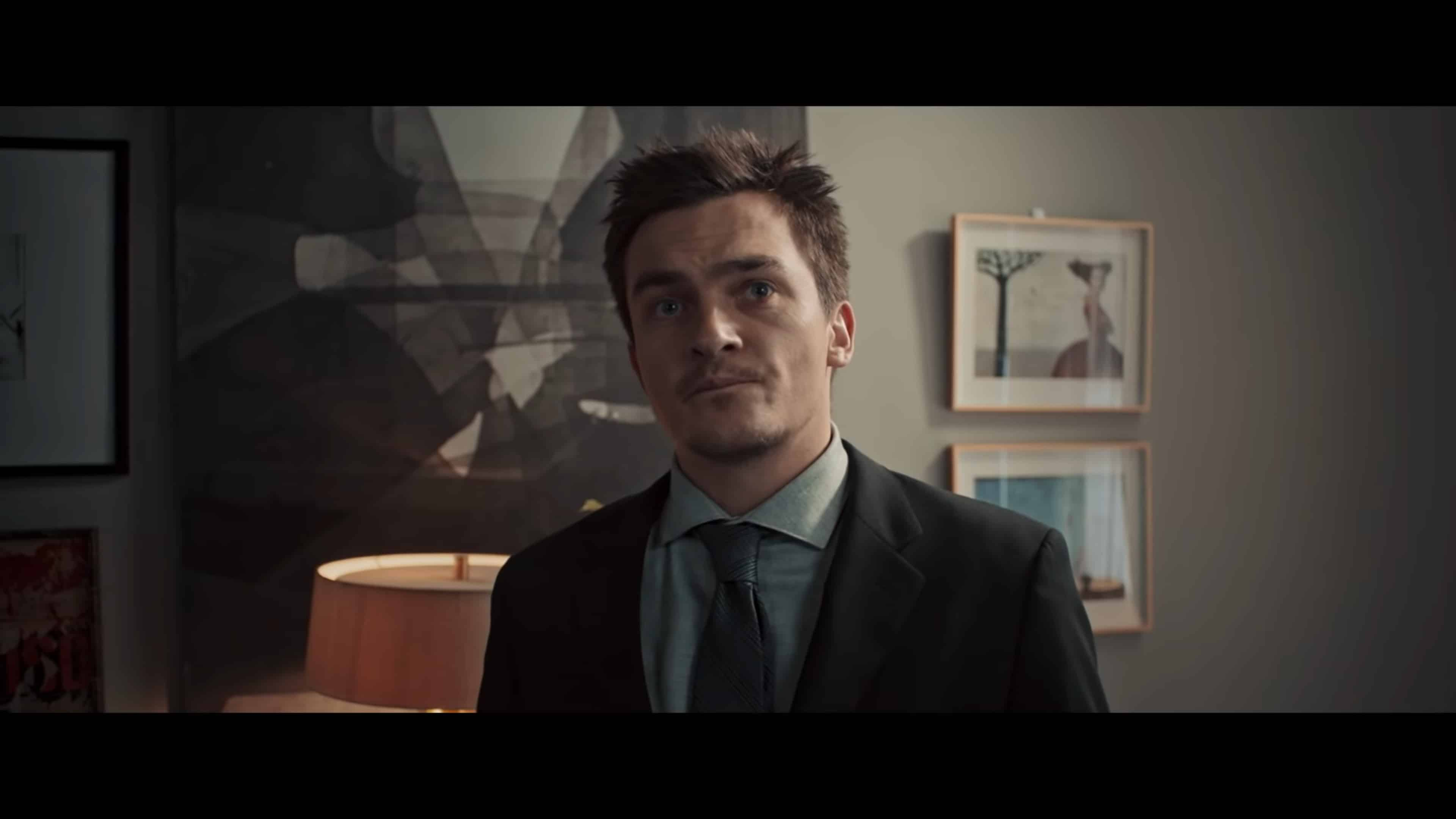 Jeff (Rupert Friend) after his wife's funeral