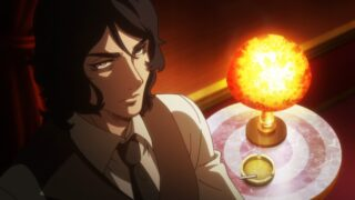Kuzuhara (Chikahiro Kobayashi) waiting for his assassins