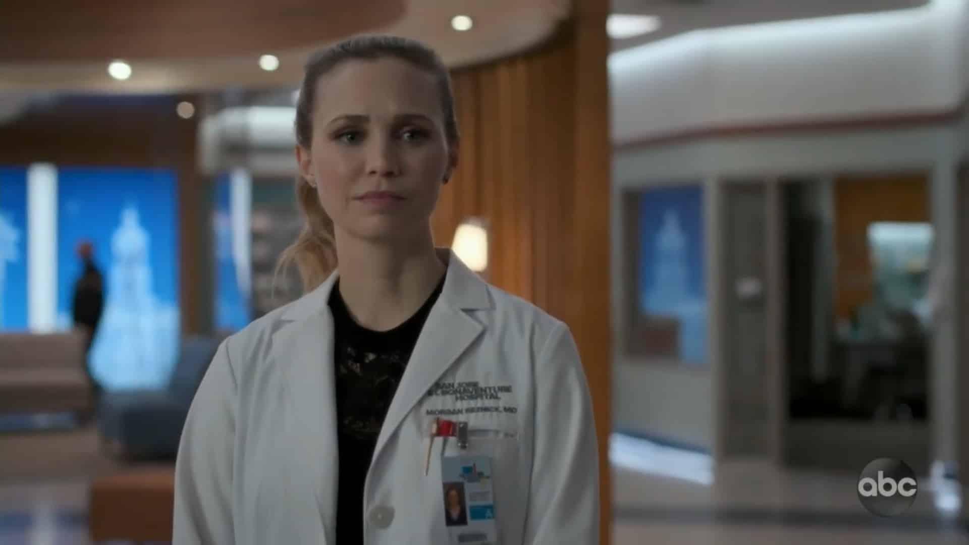 Morgan watching Alex walk away with Dr. Boyd