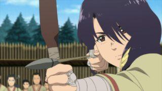 Parona (Aya Uchida) praciting archery