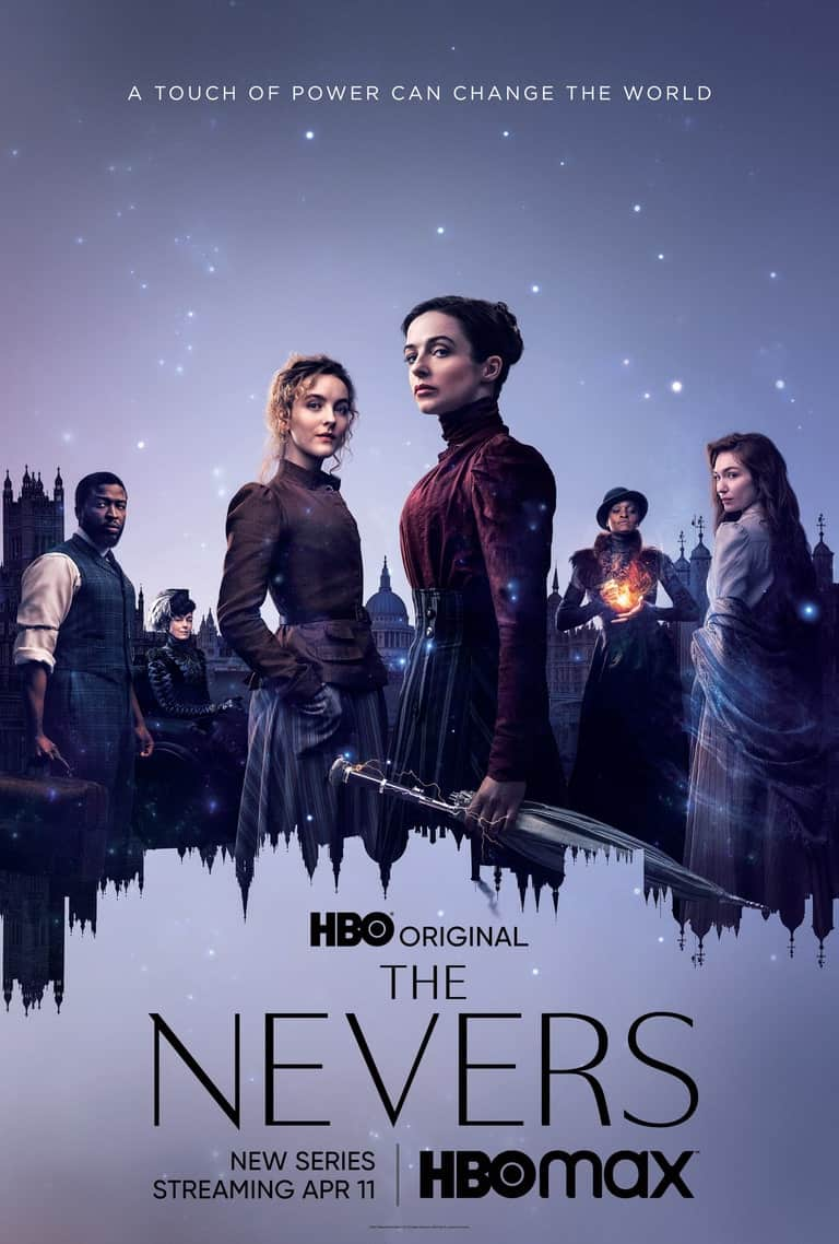 A poster featuring the main cast of The Nevers