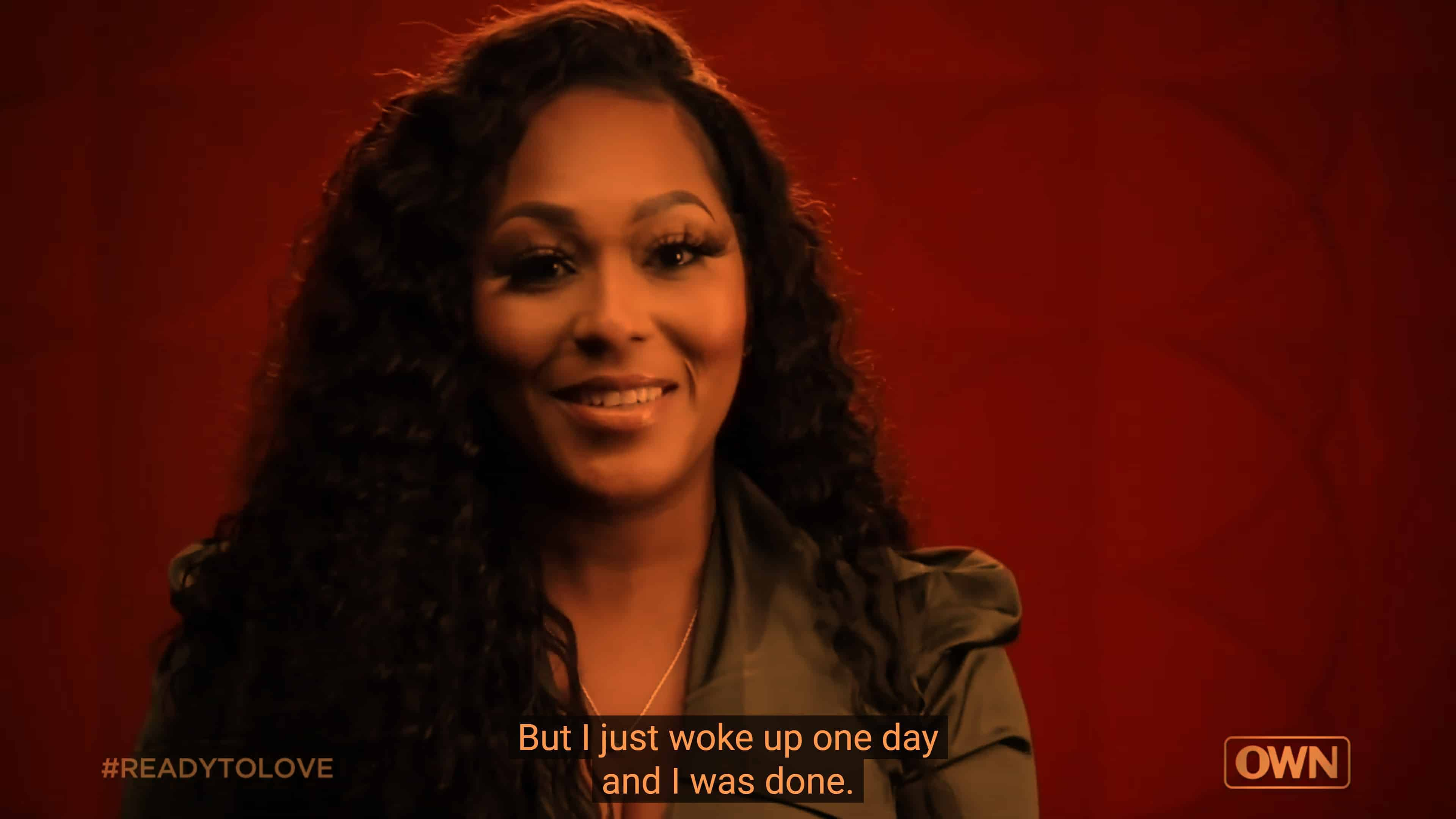 Verneashia talking about when she left her ex of 8 years