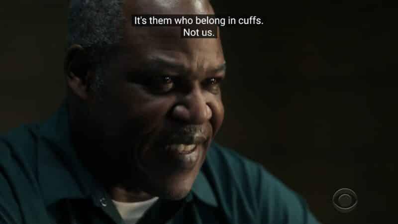 Benjamin Dante (Danny Johnson) justifying his past actions