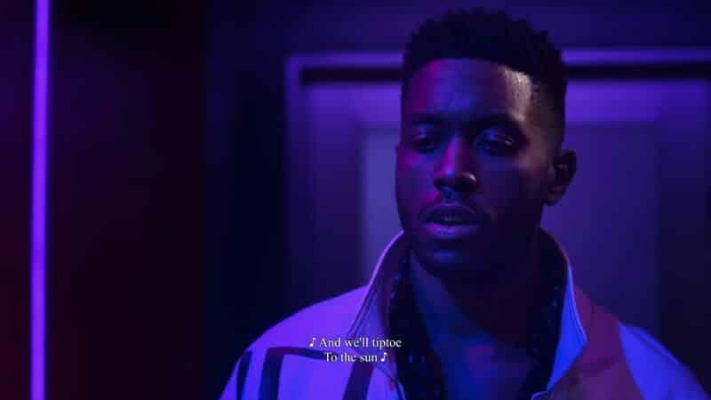 Chris (David J. Cork) realizing Whitney has a man