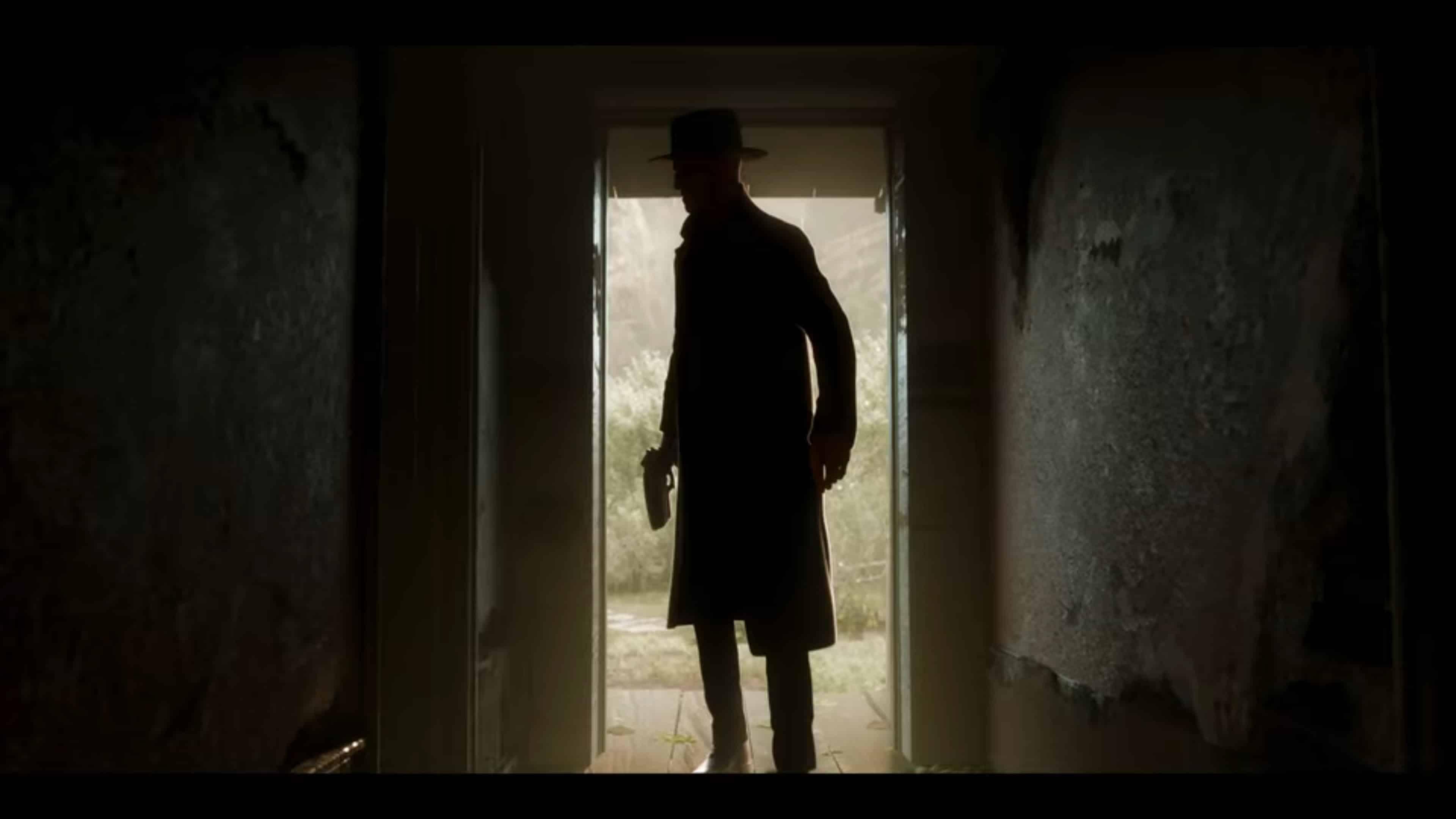 Detective Briggs entering someone's home