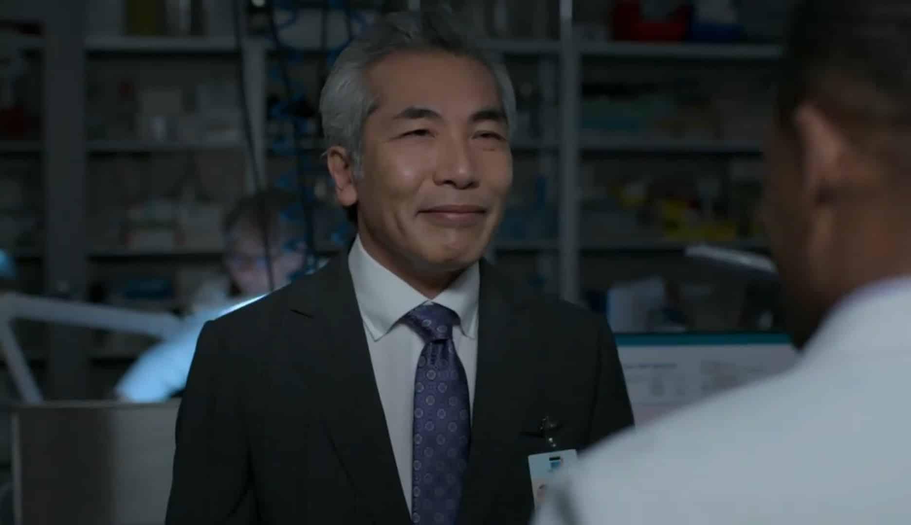 Dr. Nakano (Hiro Kanagawa) smiling