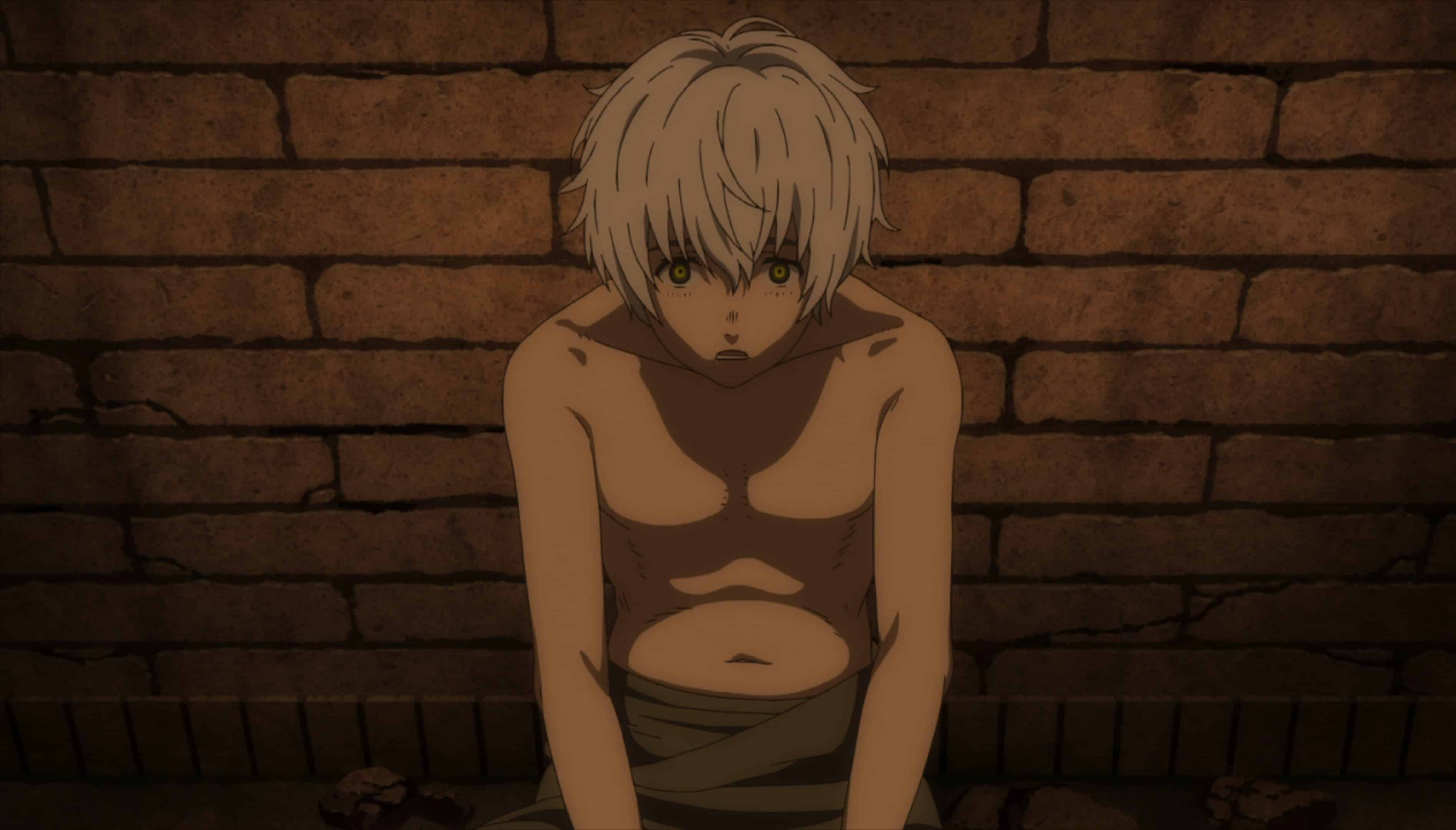 Fushi before he is tortured and experimented on