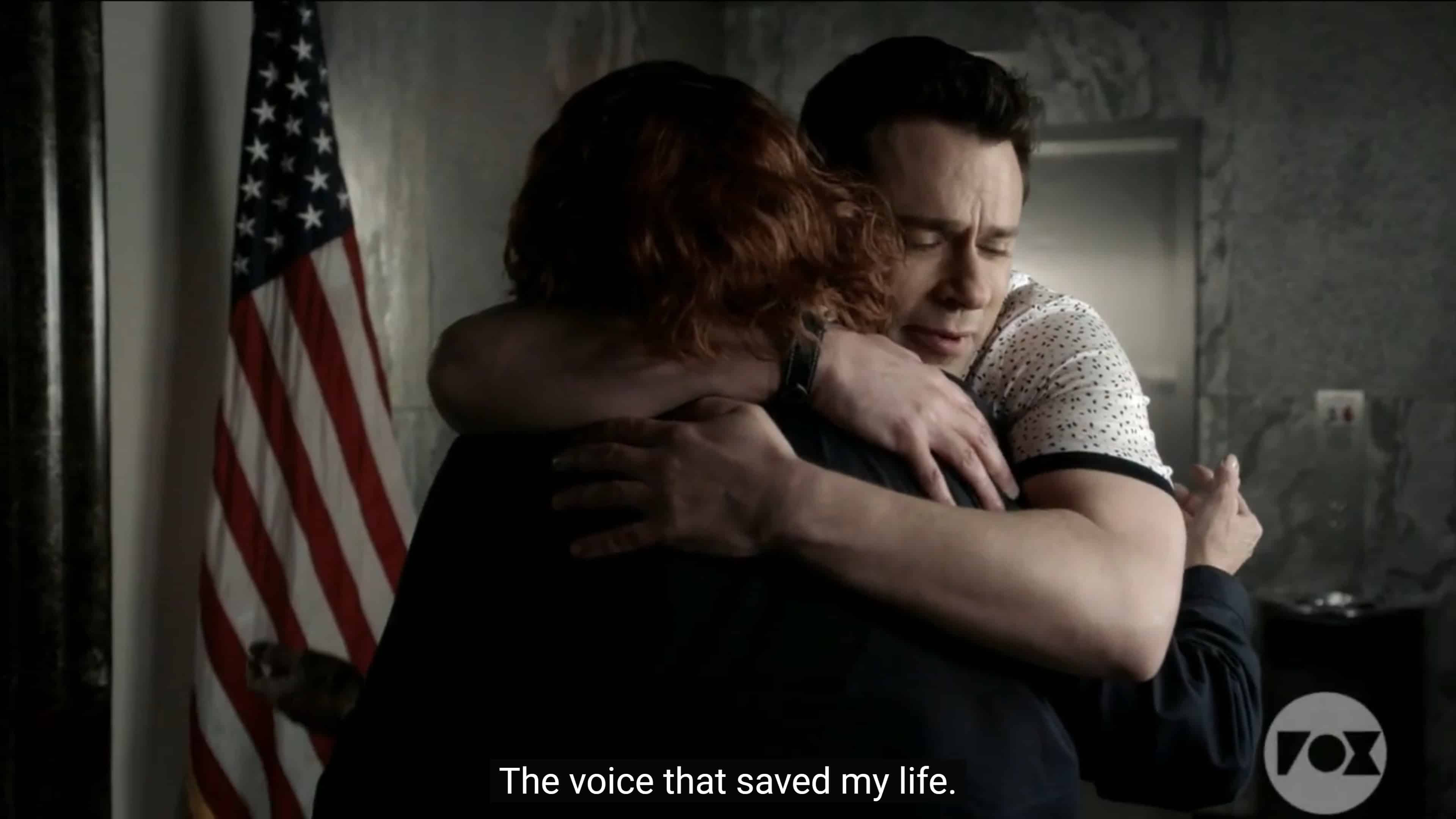 Josh embracing Sue