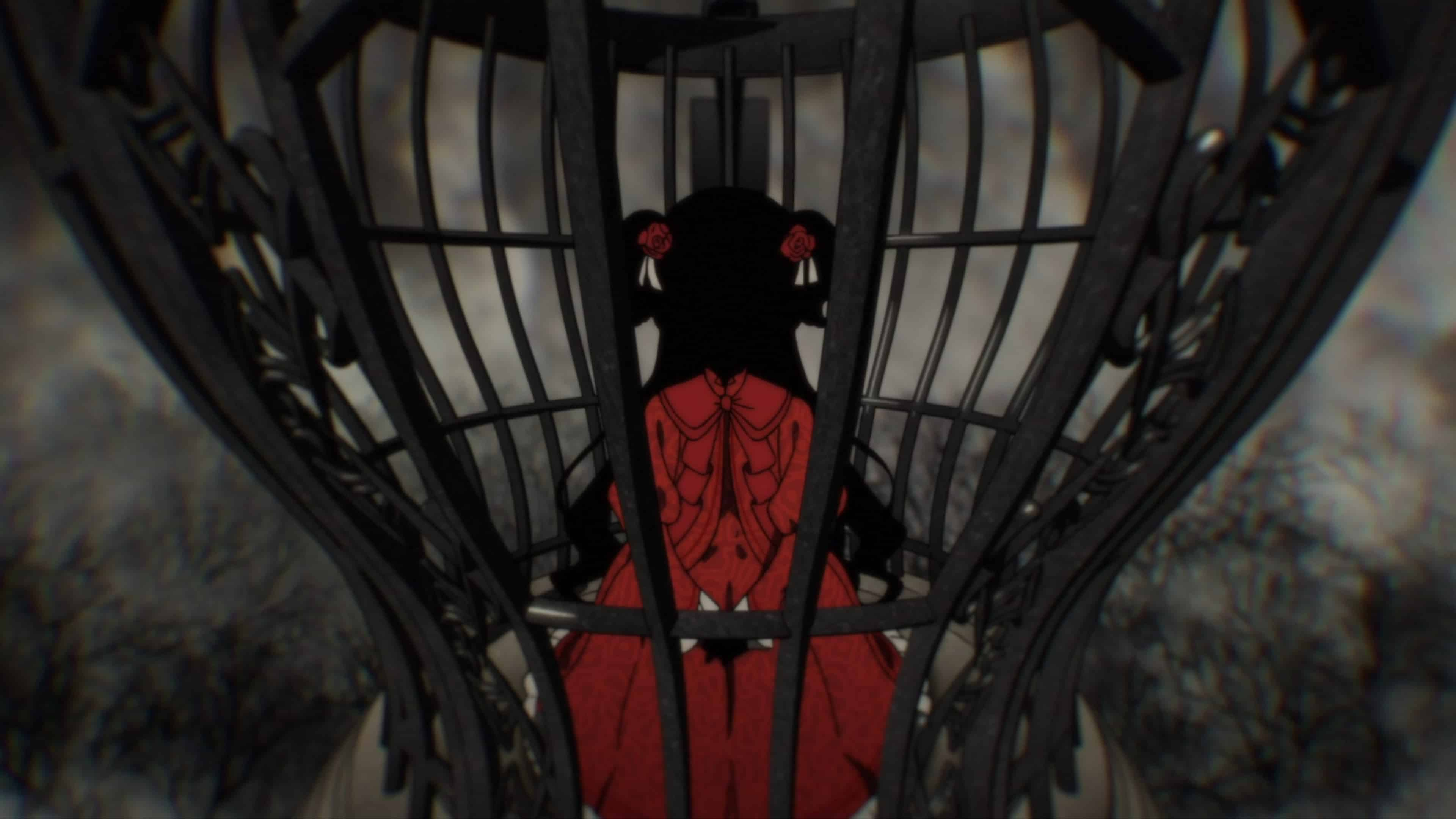 Kate in the cage Edward told her t ostay in
