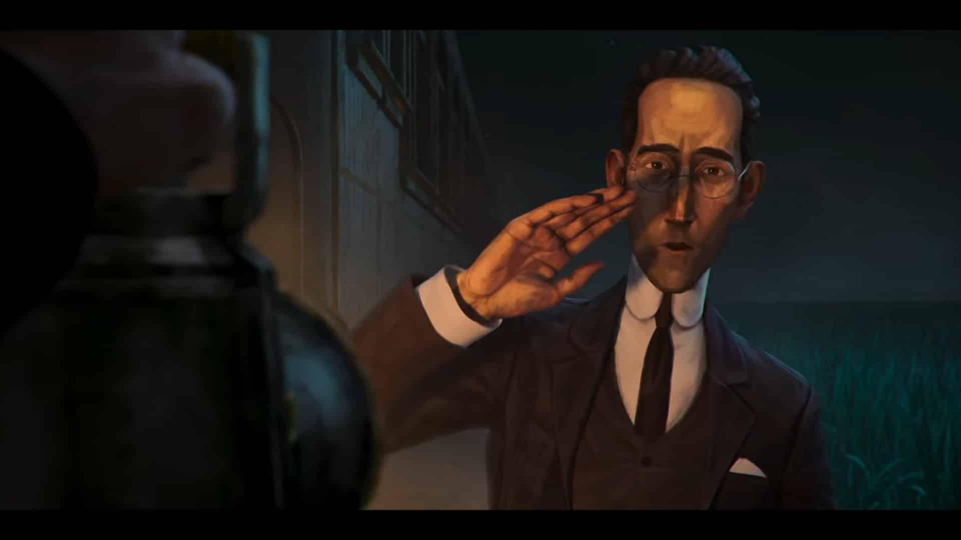 Laird (Joe Dempsie) blocking the light of the Railman
