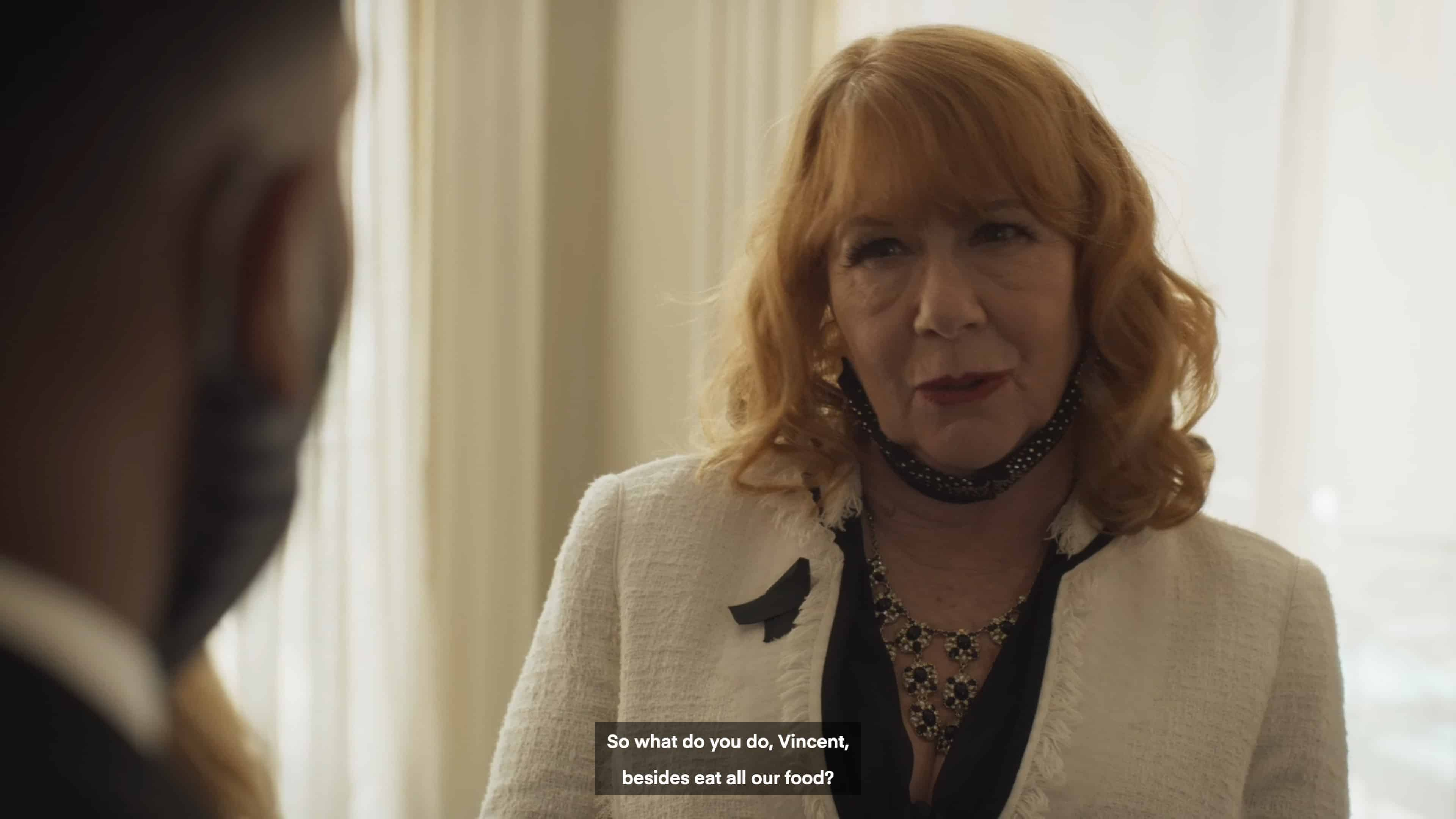 Lindsay (Patricia French) asking Vince about himself