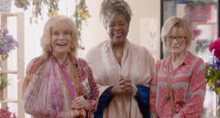 Margot (Ann-Margret), Sally (Loretta Devine), and Janet (Jane Curtin) smiling