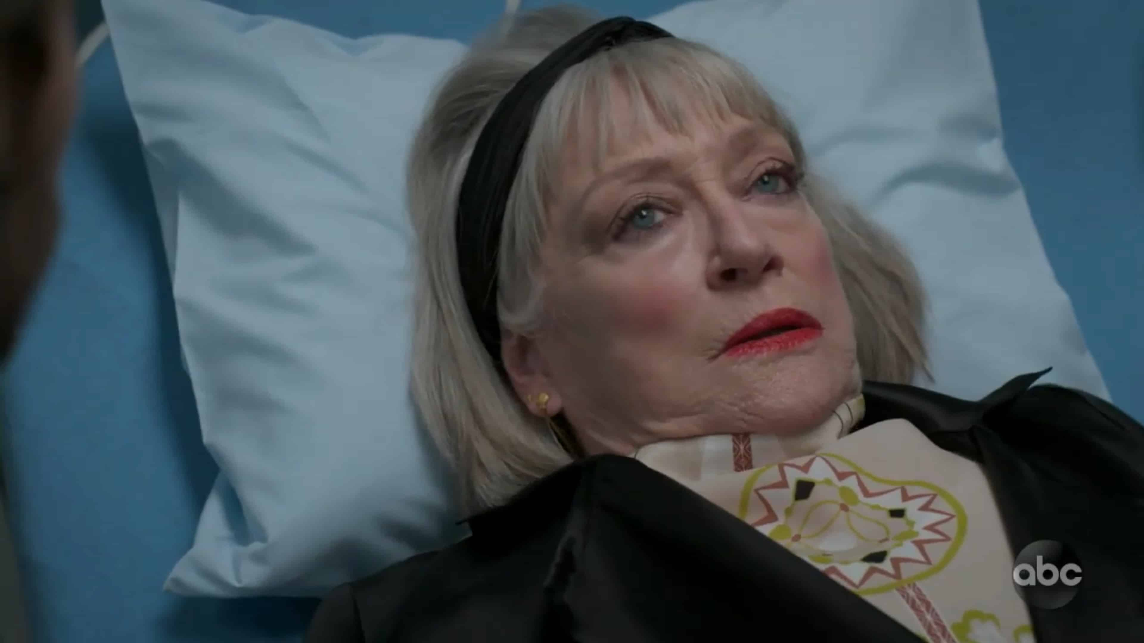 Maxine (Veronica Cartweight) realizing she is still alive