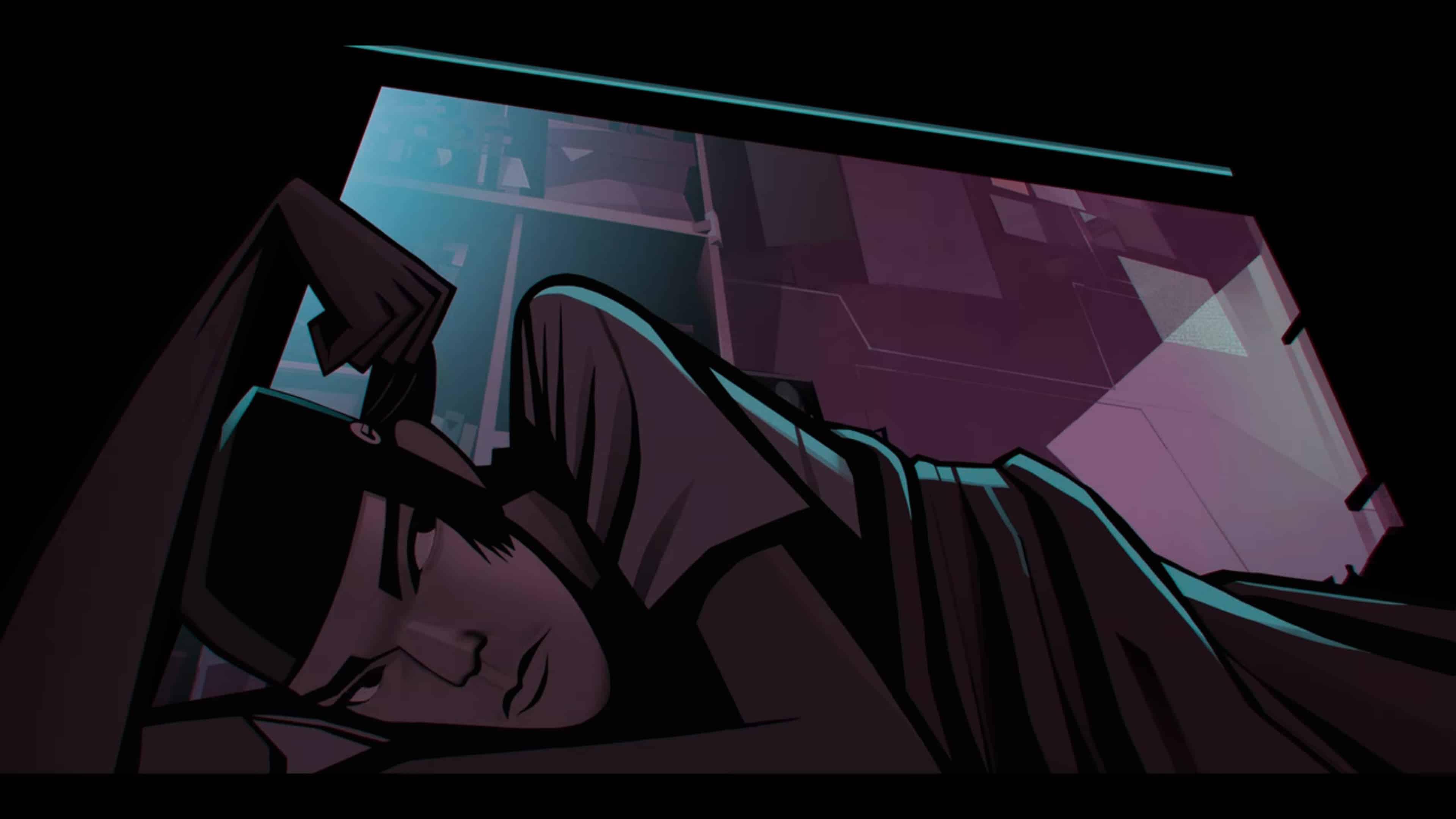 Sedgewick (Archie Madekwe) pretending he is asleep