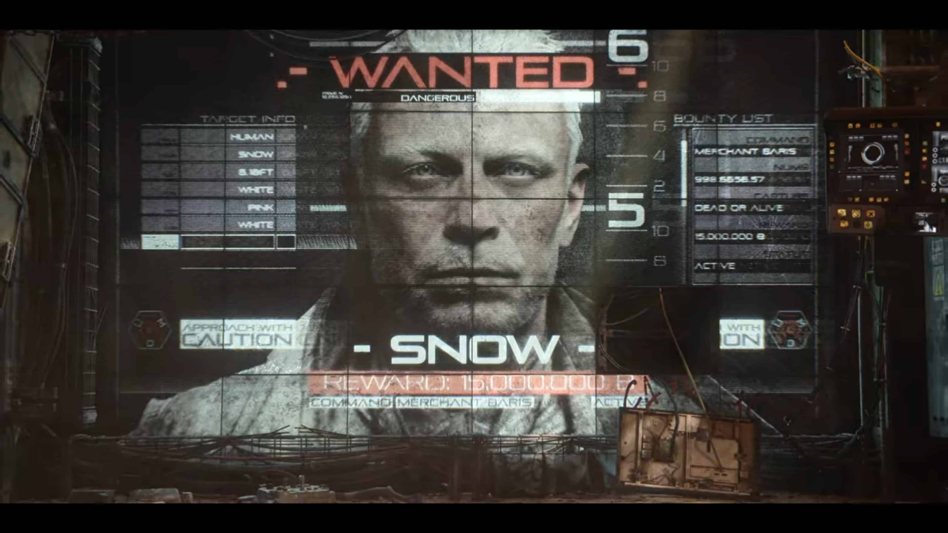 Snow's Wanted Poster
