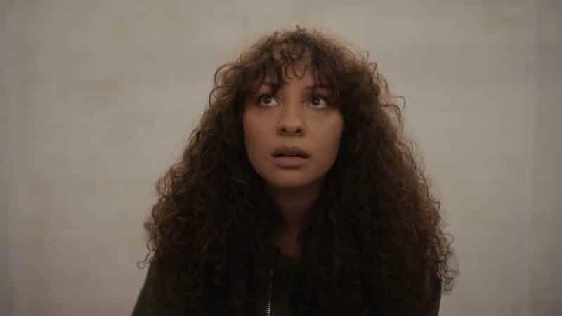 Ashley (Jasmine Cephas Jones) looking up