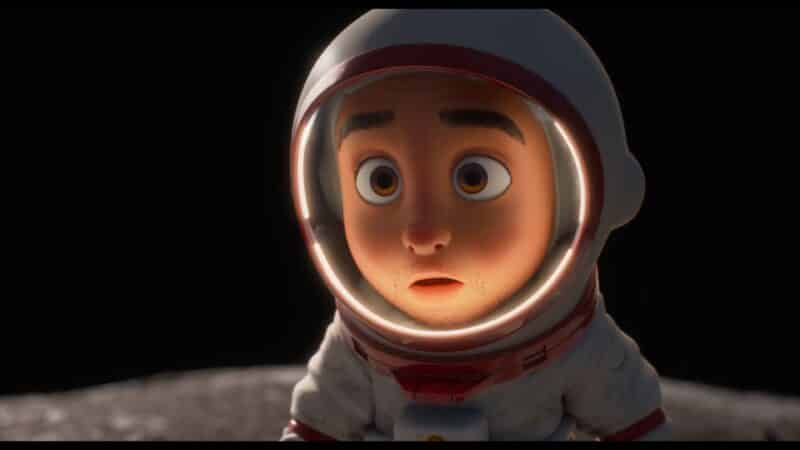 The astronaut guy when he arrives on a small planet