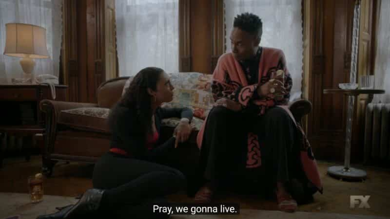 Blanca and Pray Tell talking about the possibilities they can now think of since they will live